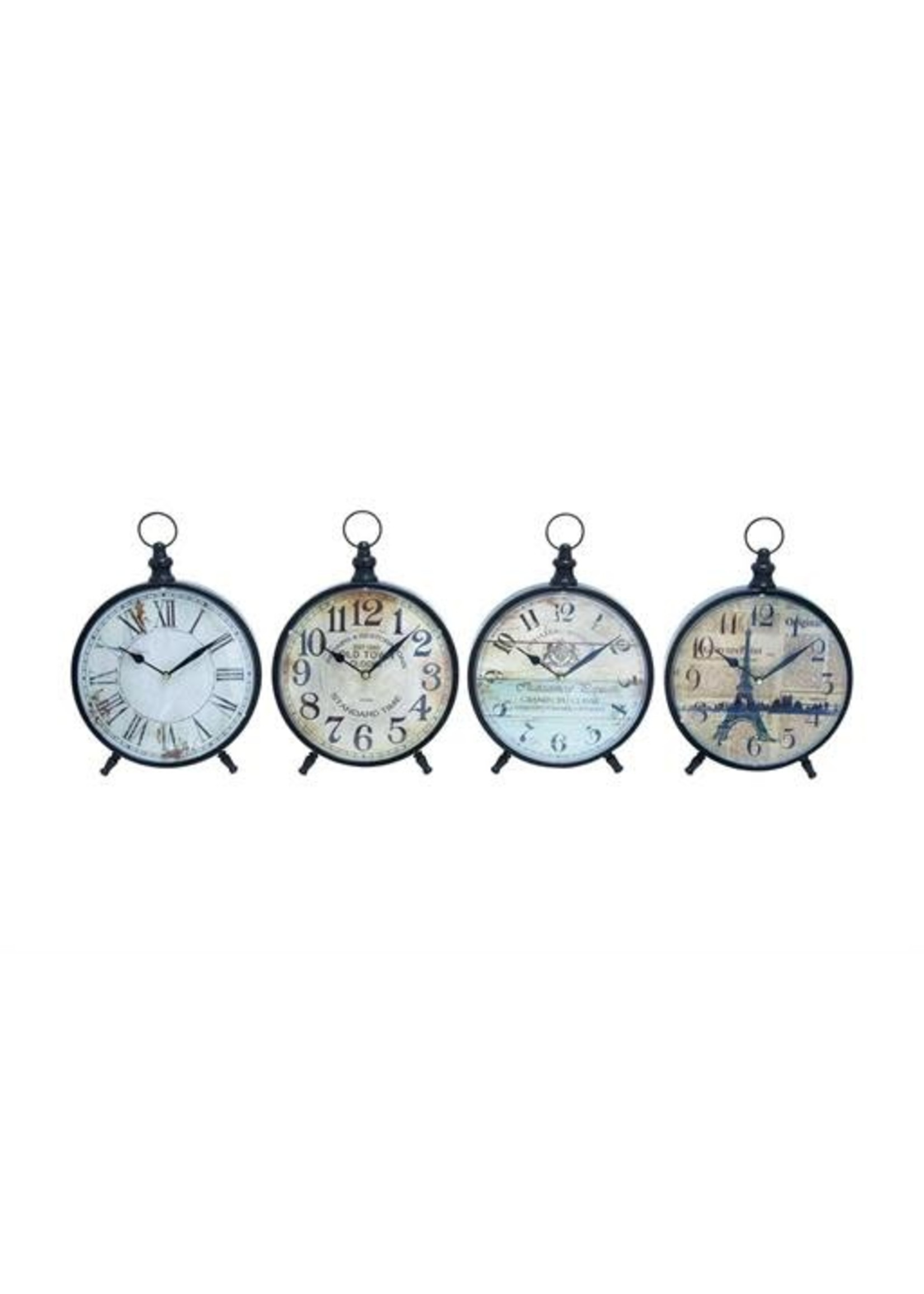 "UMA Enterprises Metal Desk Clock Assorted Backgrounds12"""