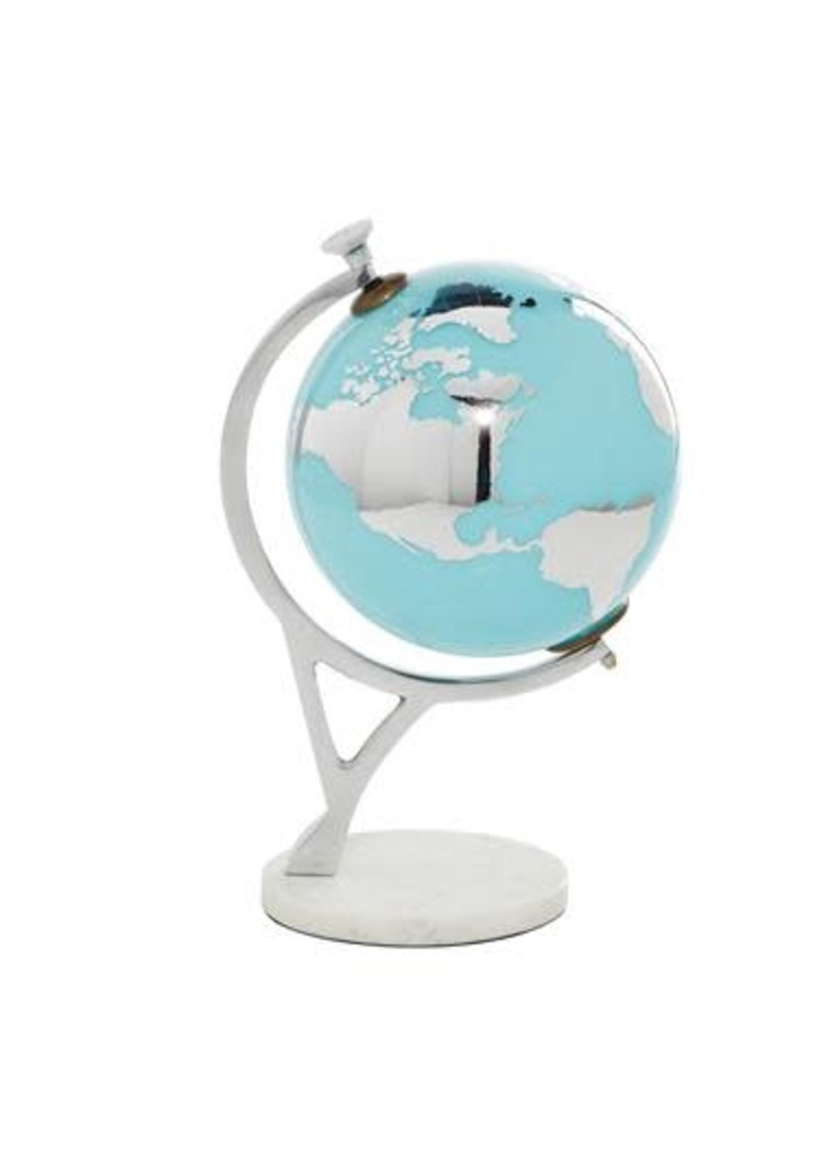 "UMA Enterprises Marble Alum Glass Globe 14"""