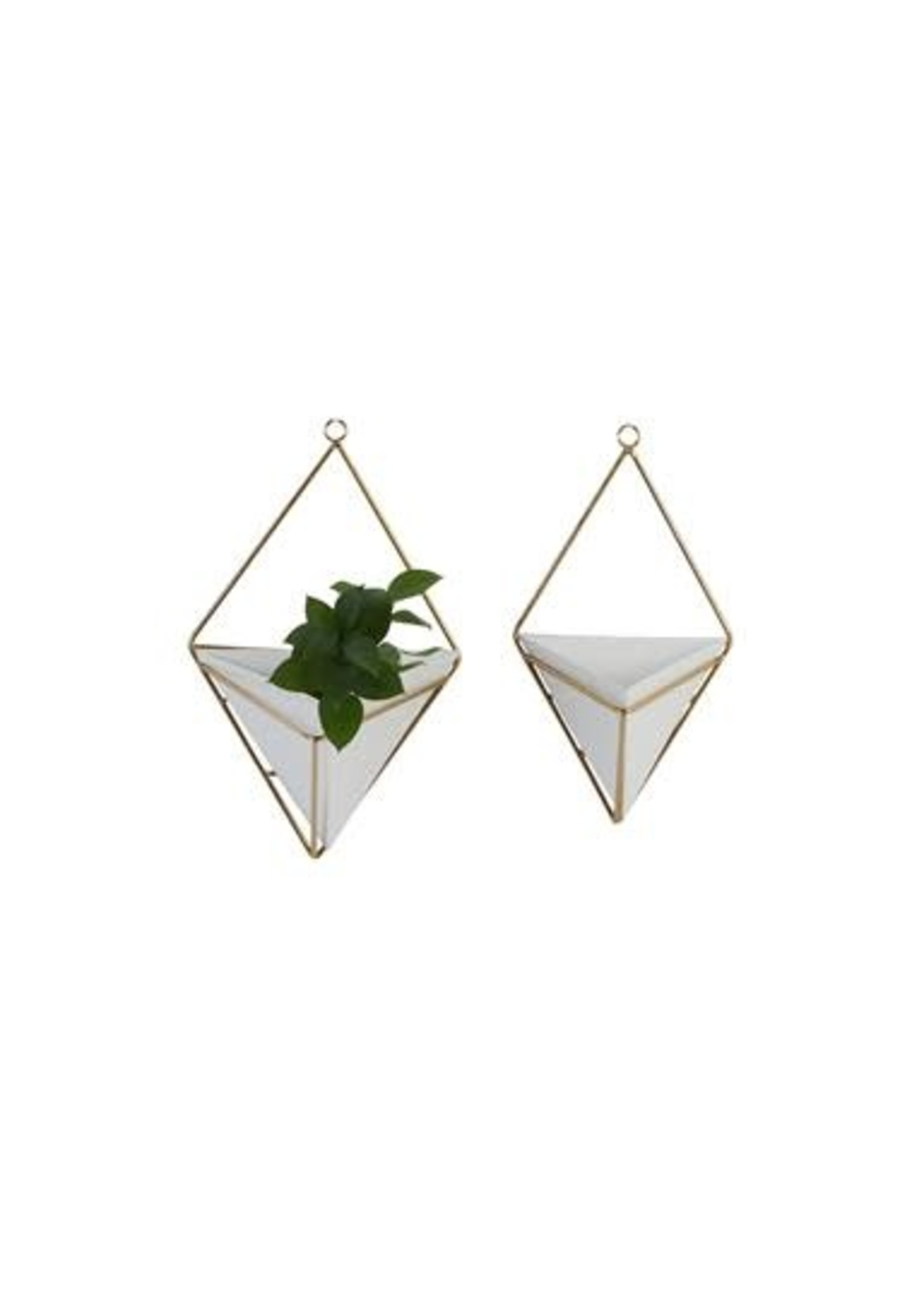 Small Gold White Planters set of 2 small