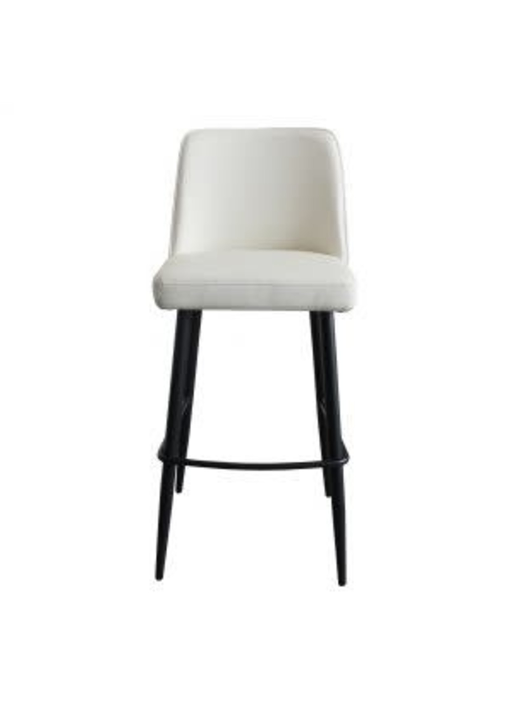 Moes Home Collection Emelia Barstool Ivory by MOES