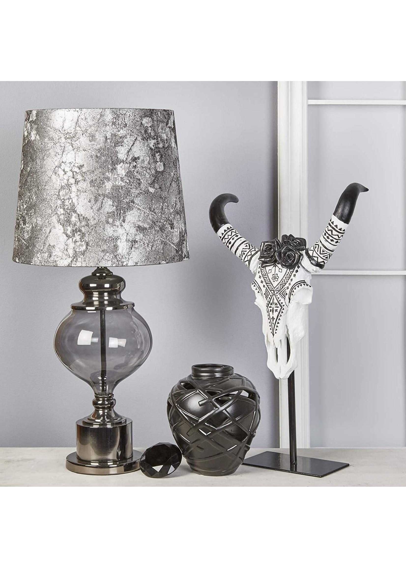 "Sagebrook Home SBH Glass 33"" Urn Table Lamp Smoke Grey"