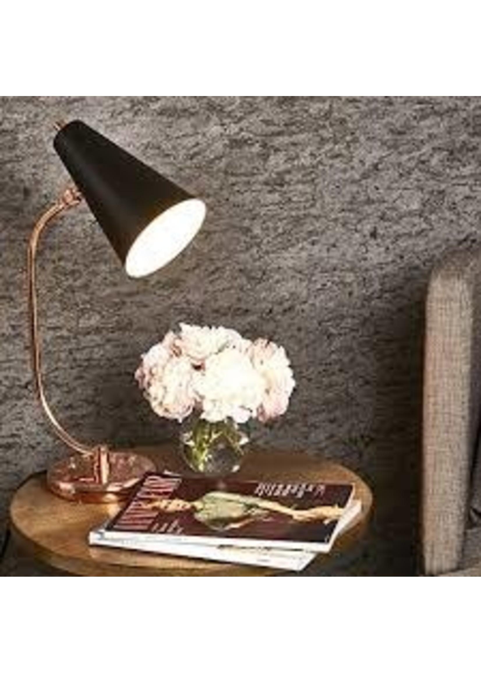 """Sagebrook Home SBH Metal Desk Lamp Black Rose Gold 20"""""""