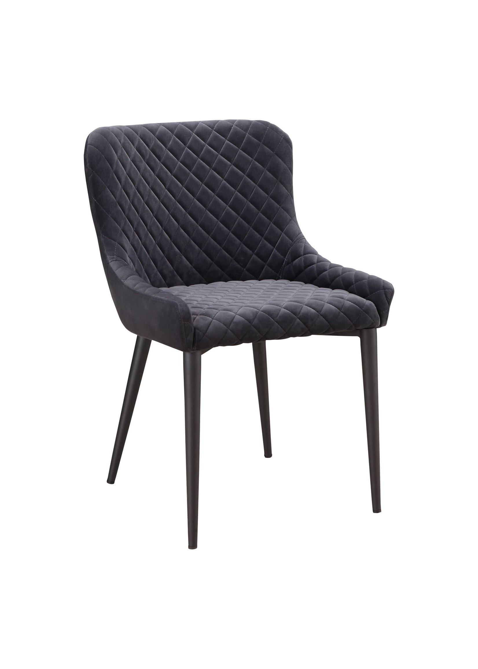 Moes Home Collection Etta Dining Chair Dark Grey by MOES