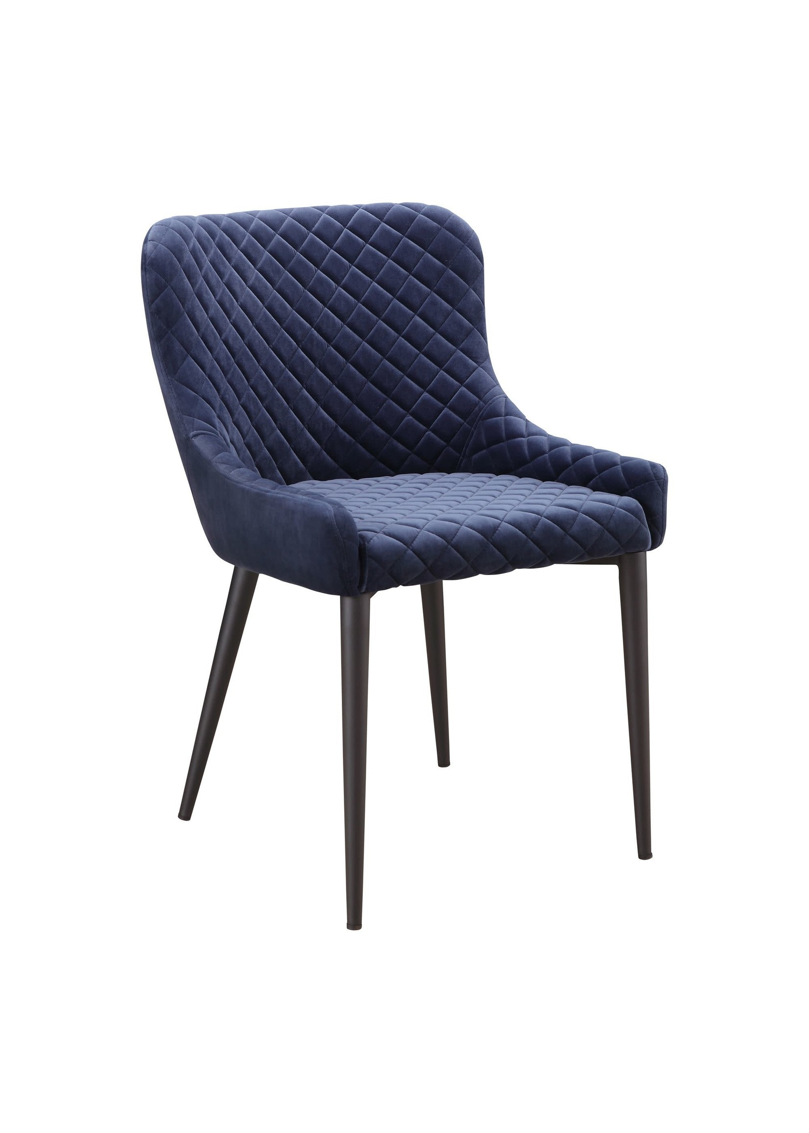 Moes Home Collection Etta Dining Chair Dark Blue by MOES