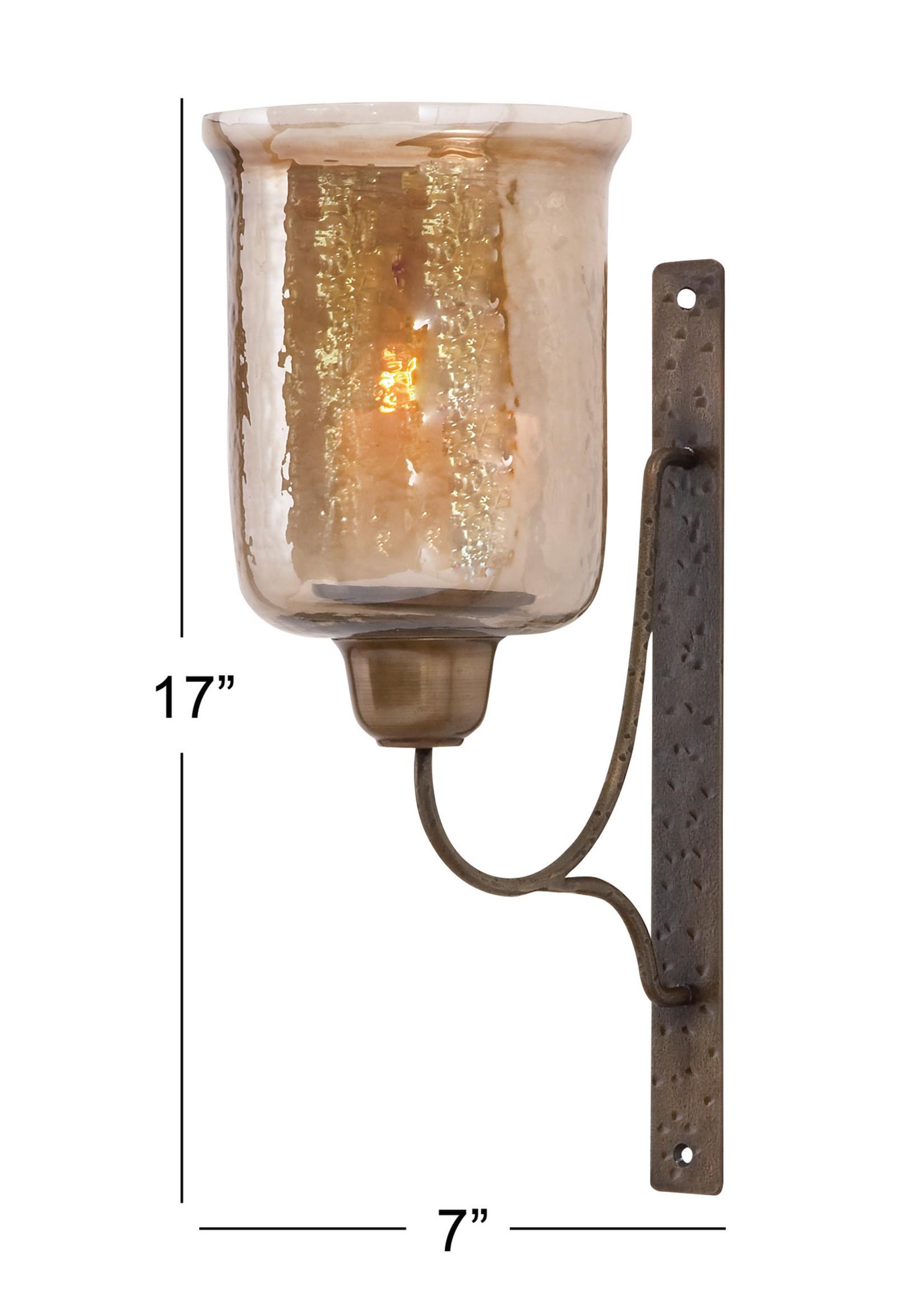UMA Enterprises Metal Glass Candle Sconce