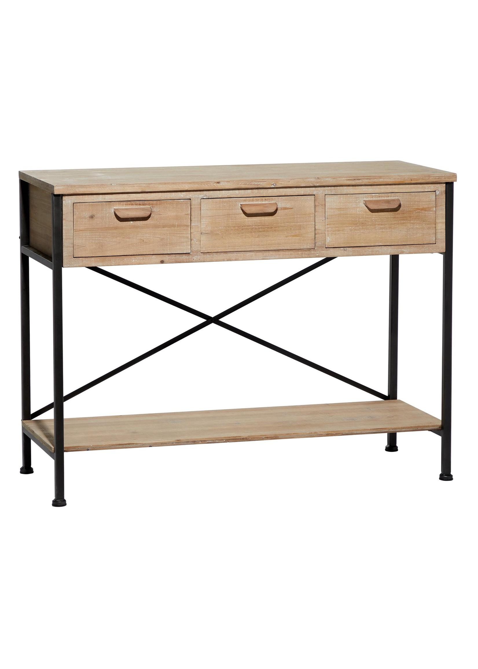 UMA Enterprises Wood Metal Console Table