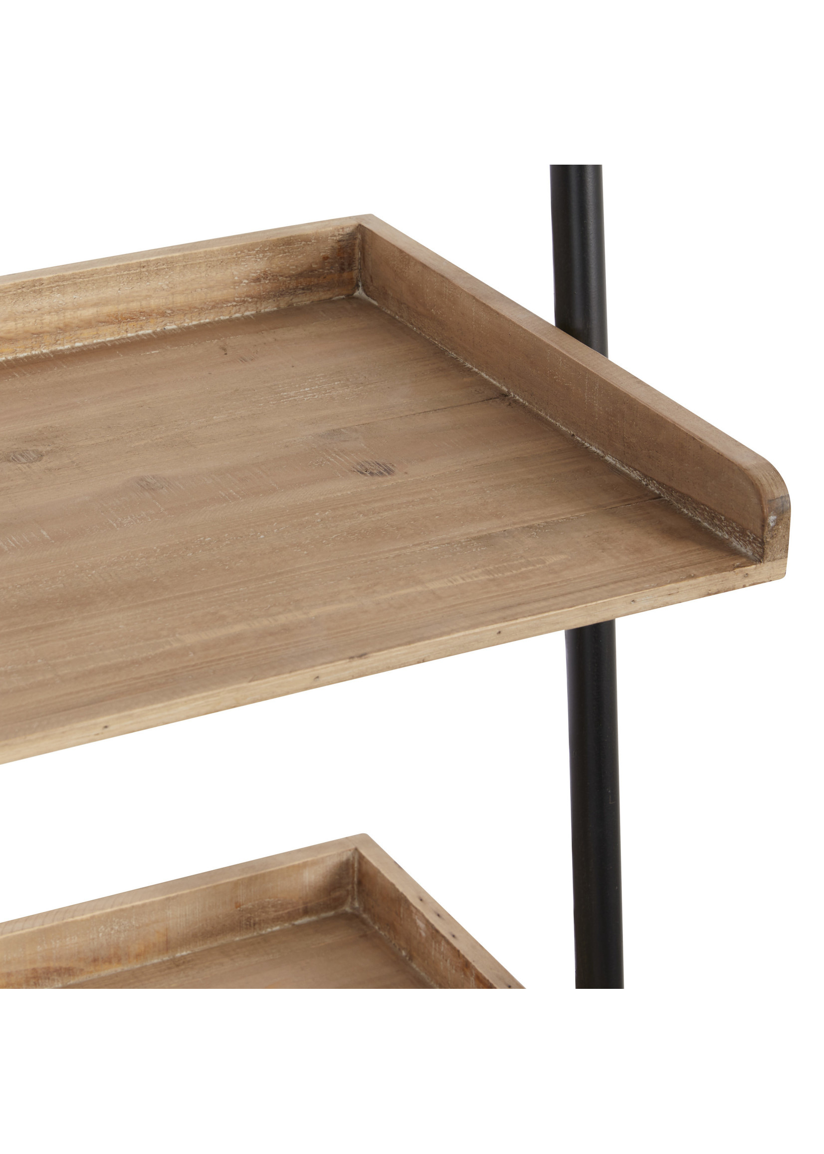UMA Enterprises Wood Metal Ladder Shelves