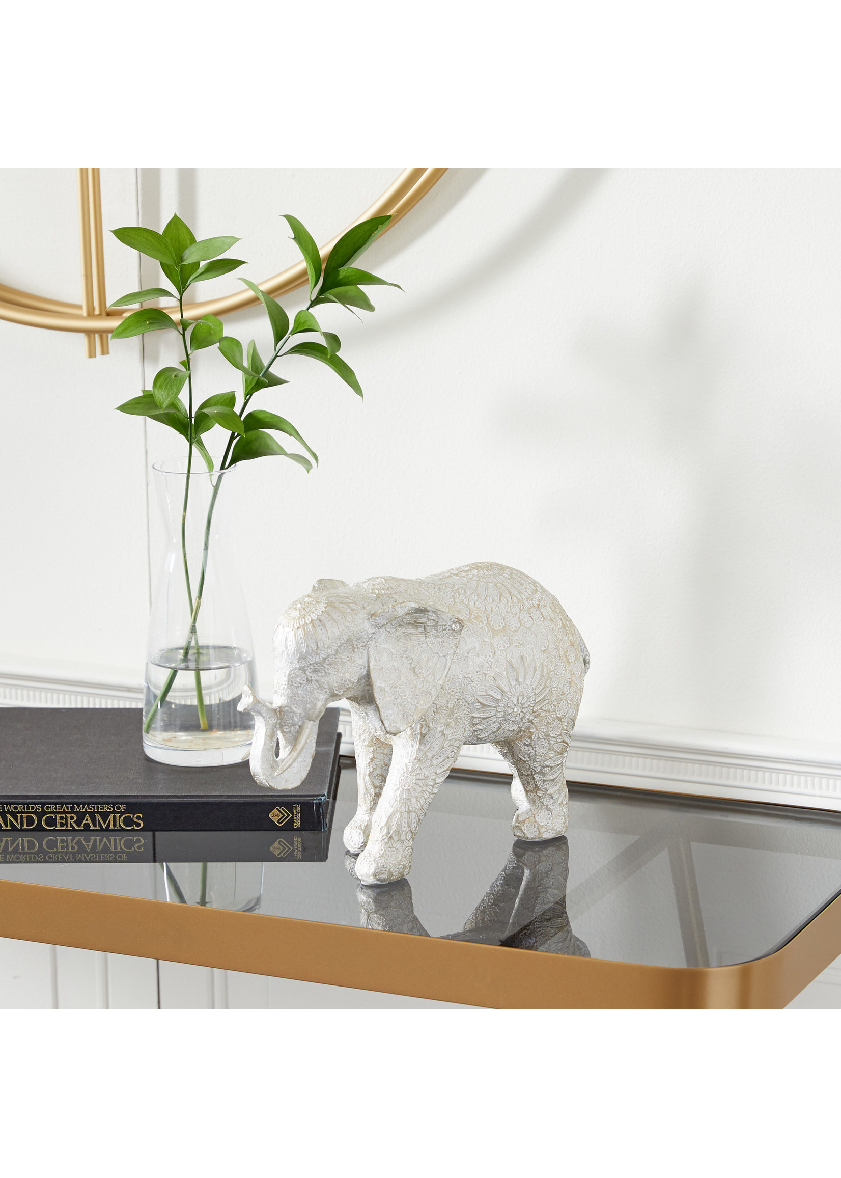 UMA Enterprises Polyresin Elephant Statue