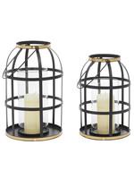 UMA Enterprises Metal Lantern Set of 2