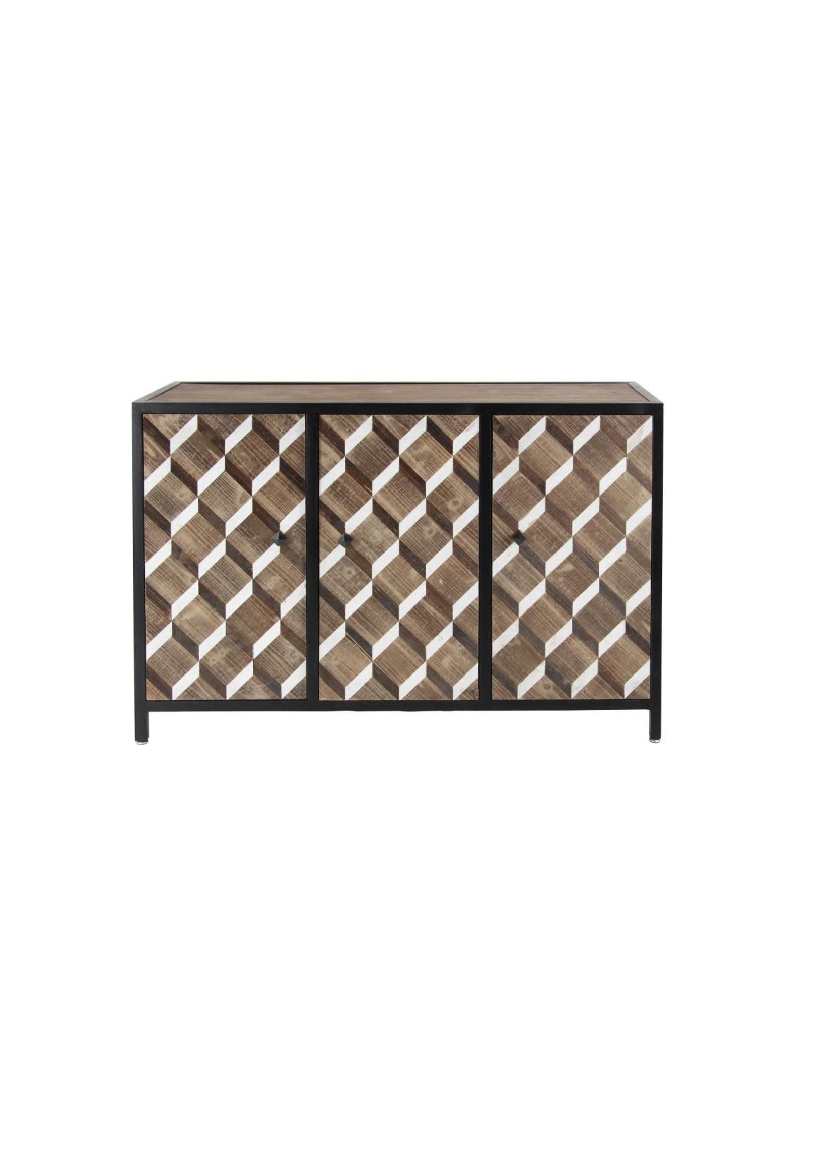 UMA Enterprises Wood Metal Cabinet