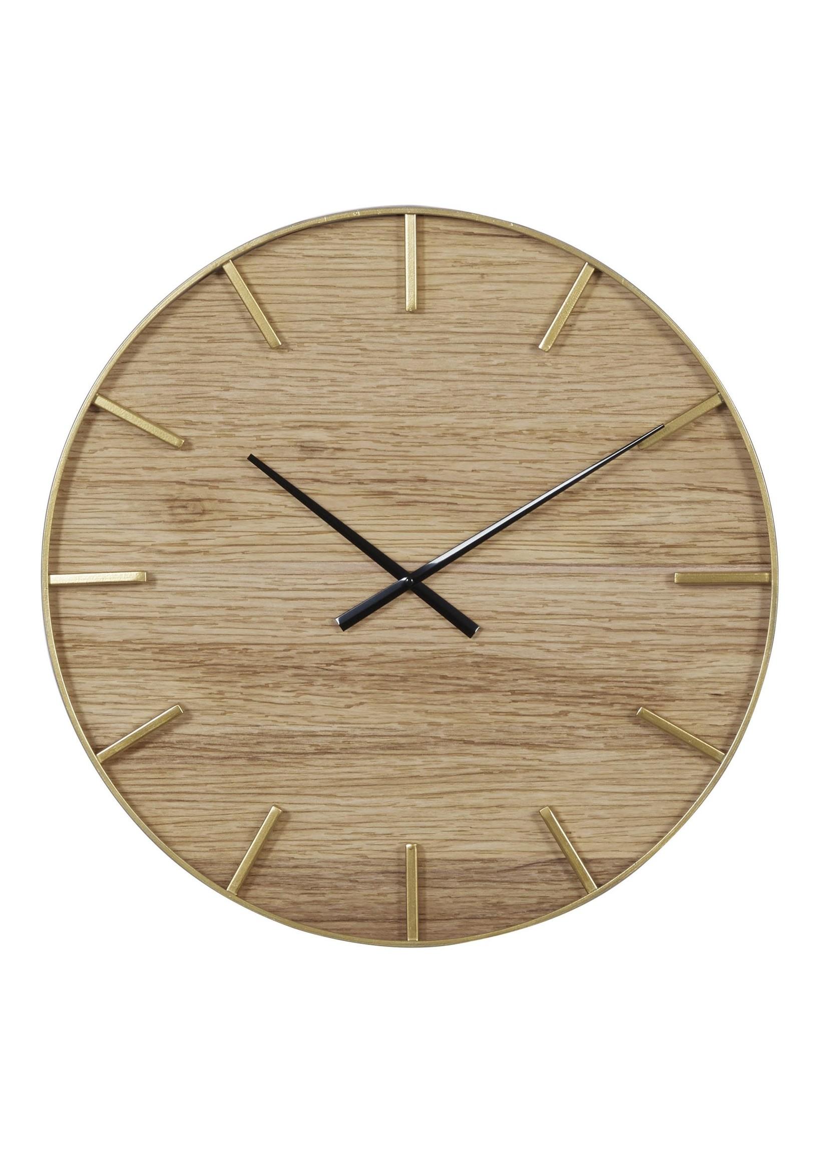 UMA Enterprises Wood Metal Wall Clock