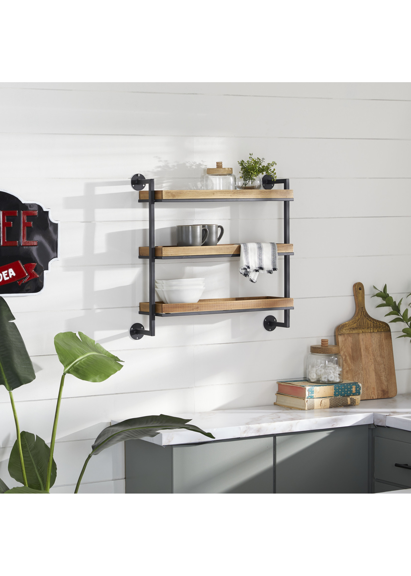 UMA Enterprises UMA Metal and Wood shelf (3)