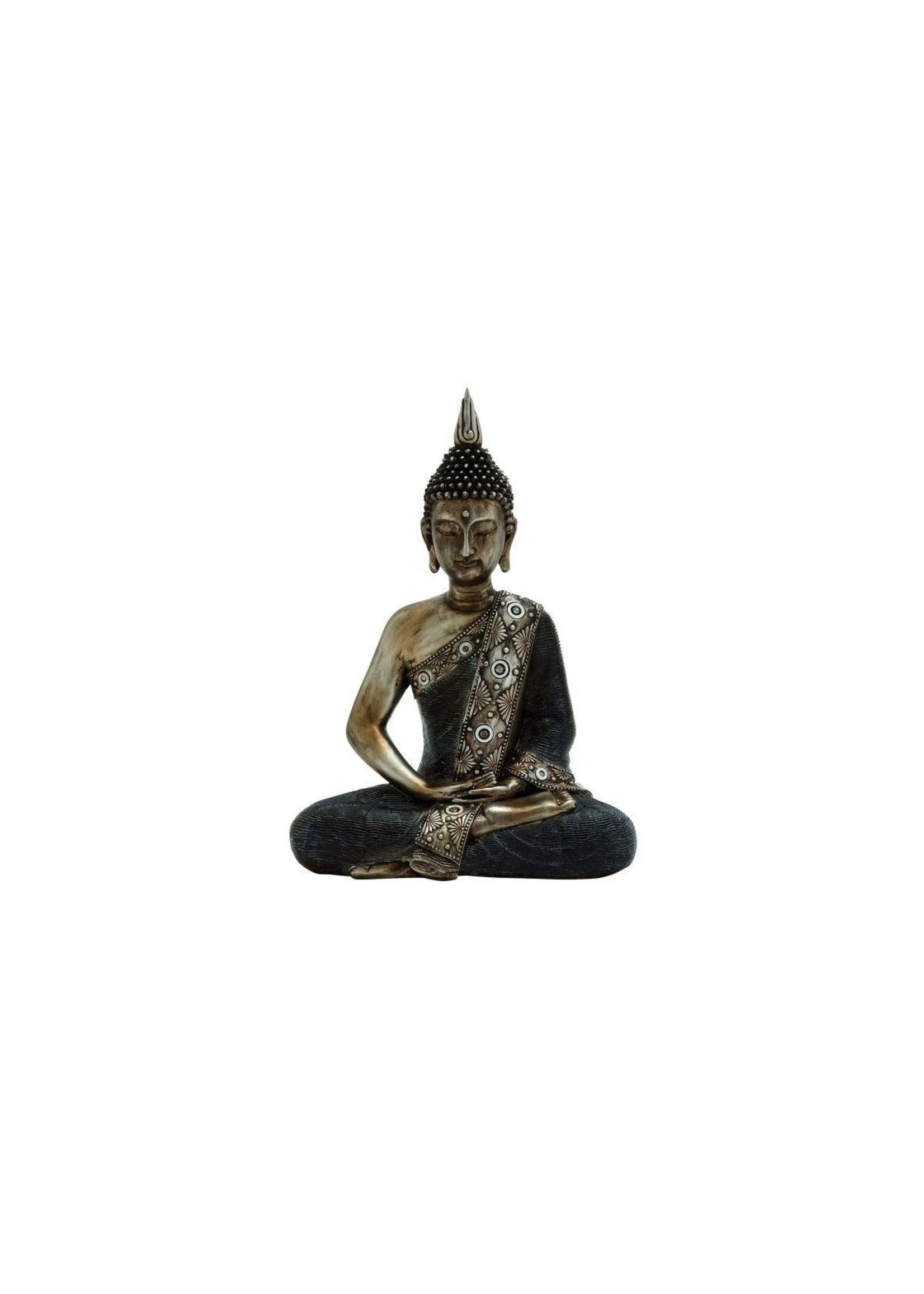 """UMA Enterprises Polystyrene Sitting Buddha 12""""W, 16""""H"""