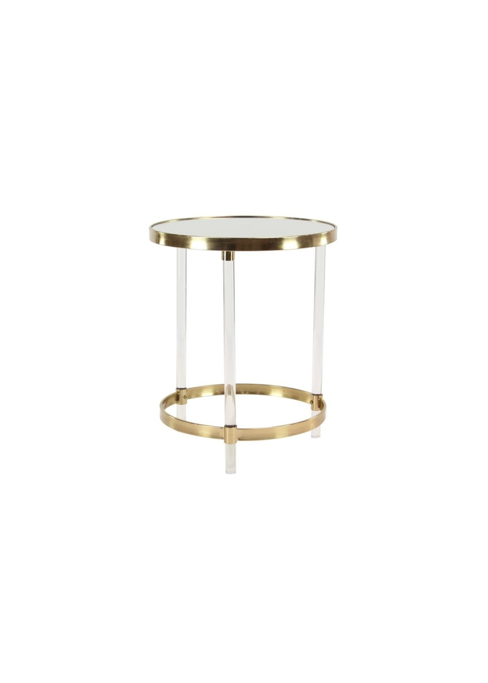 UMA Enterprises Metal Acrylic Accent Table