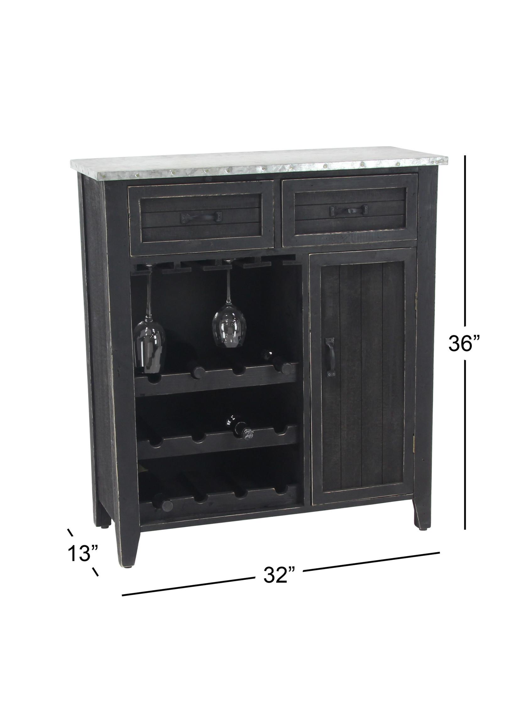 UMA Enterprises Wooden Wine Cabinet