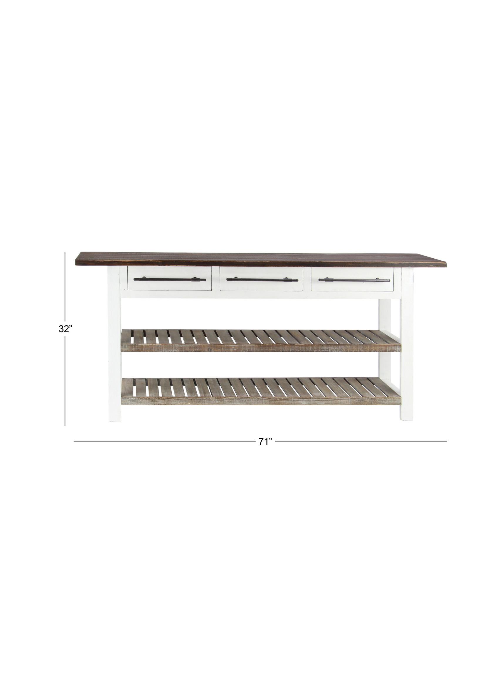 """UMA Enterprises UMA Wood Console w/Shelf, 71""""W, 32""""H"""
