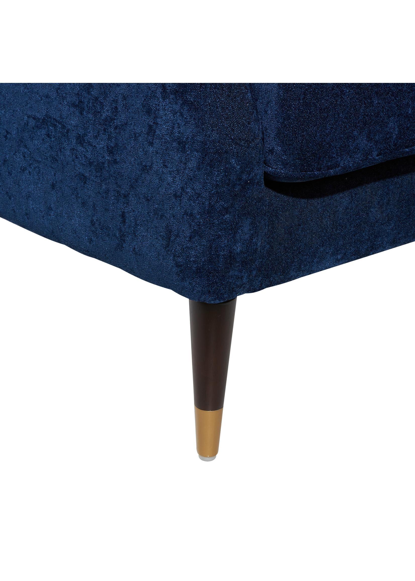 UMA Enterprises Accent Chair - Tufted Fabric Blue