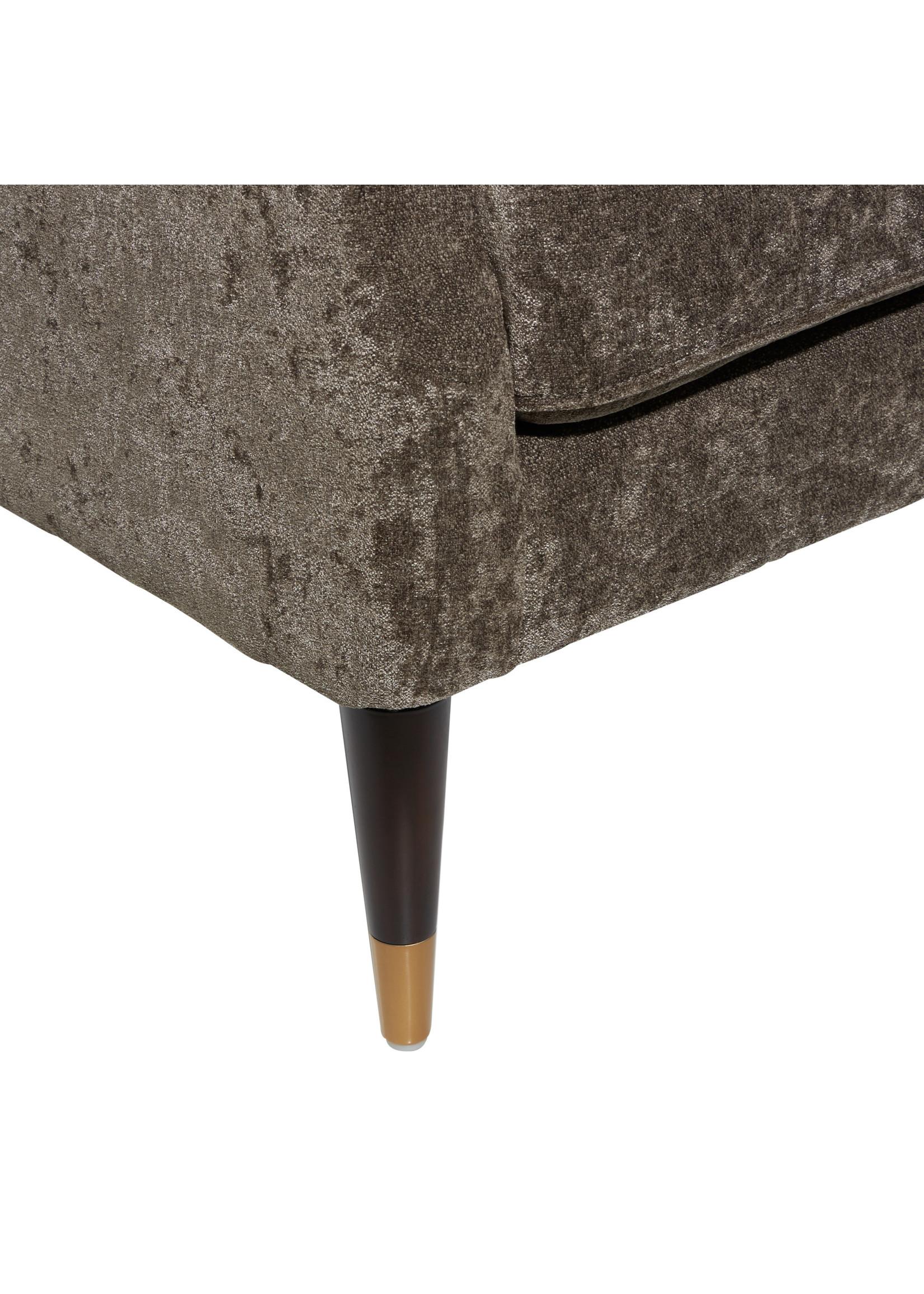 UMA Enterprises Accent Chair - Tufted Fabric Brown
