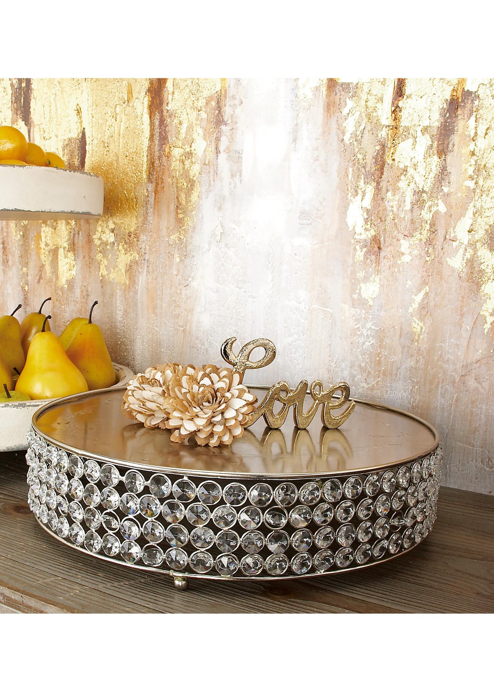 UMA Enterprises Metal Bead Cake Stand - Large