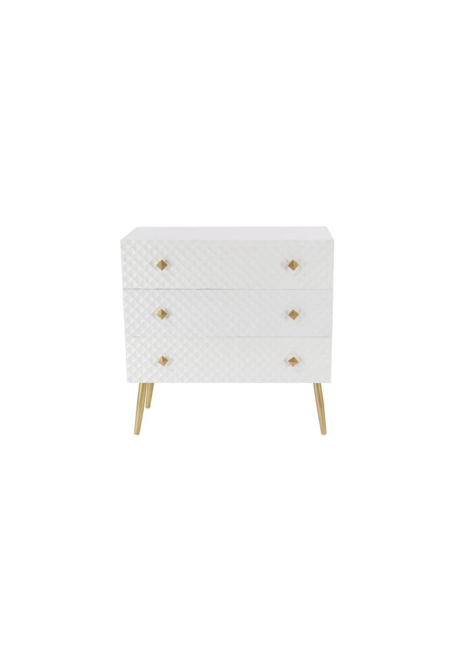 UMA Enterprises White Wood Cabinet