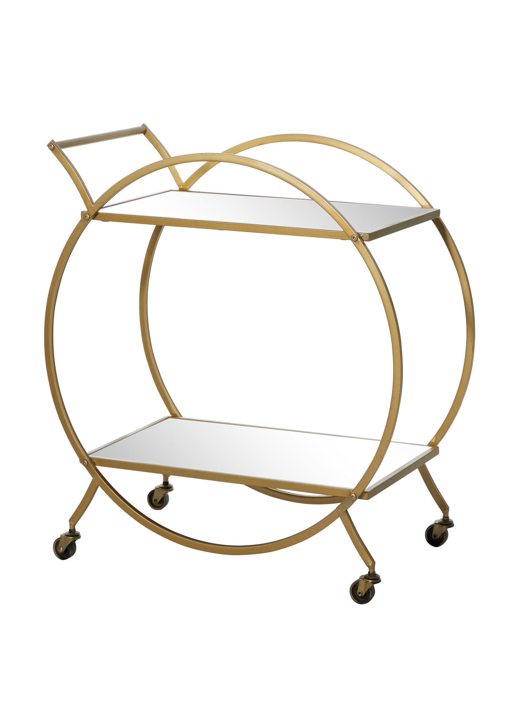 UMA Enterprises UMA Metal Mirror Bar Cart 27X30