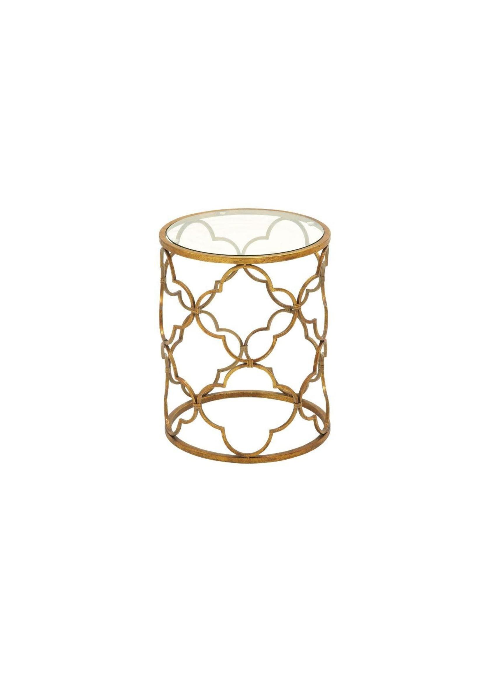 UMA Enterprises Metal Glass Accent Table