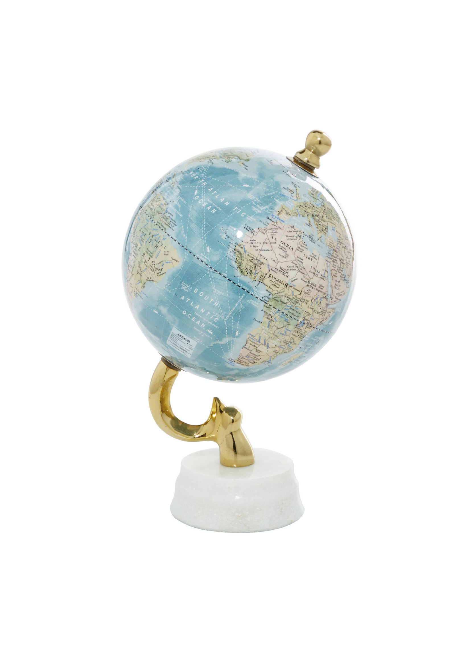 UMA Enterprises Marble Aluminum Blue Plastic Globe