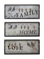 UMA Enterprises Wood Metal Wall Plaque