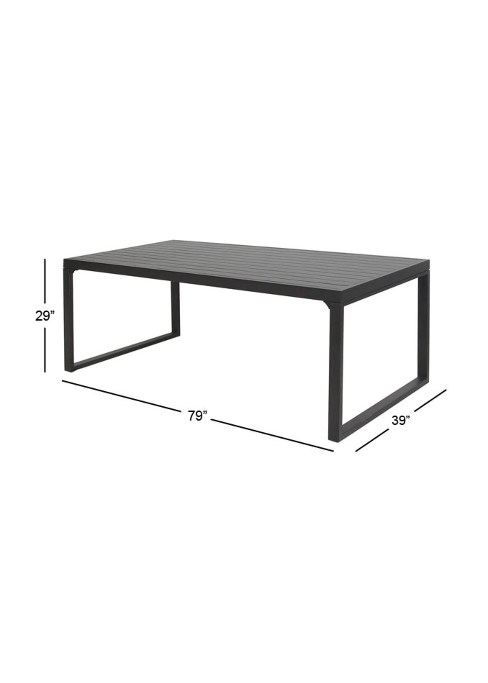 UMA Enterprises UMA Aluminum Dining Table & 6 Chairs w/Cover