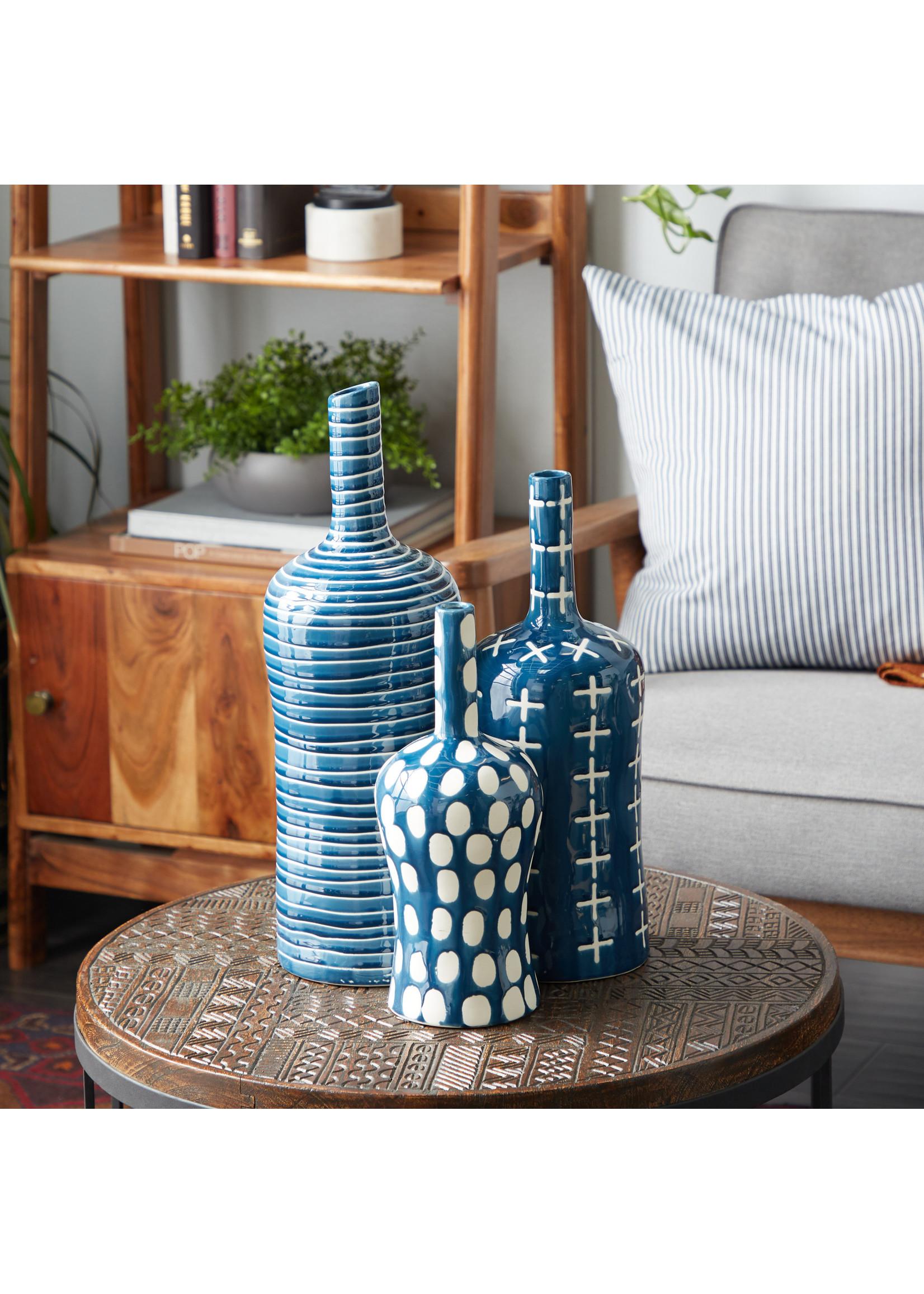 UMA Enterprises Ceramic Vase Set of 3