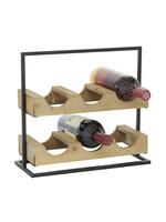 UMA Enterprises Metal Wood Wine Holder