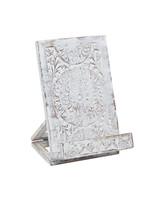 UMA Enterprises Wood Book Holder - Whitewash