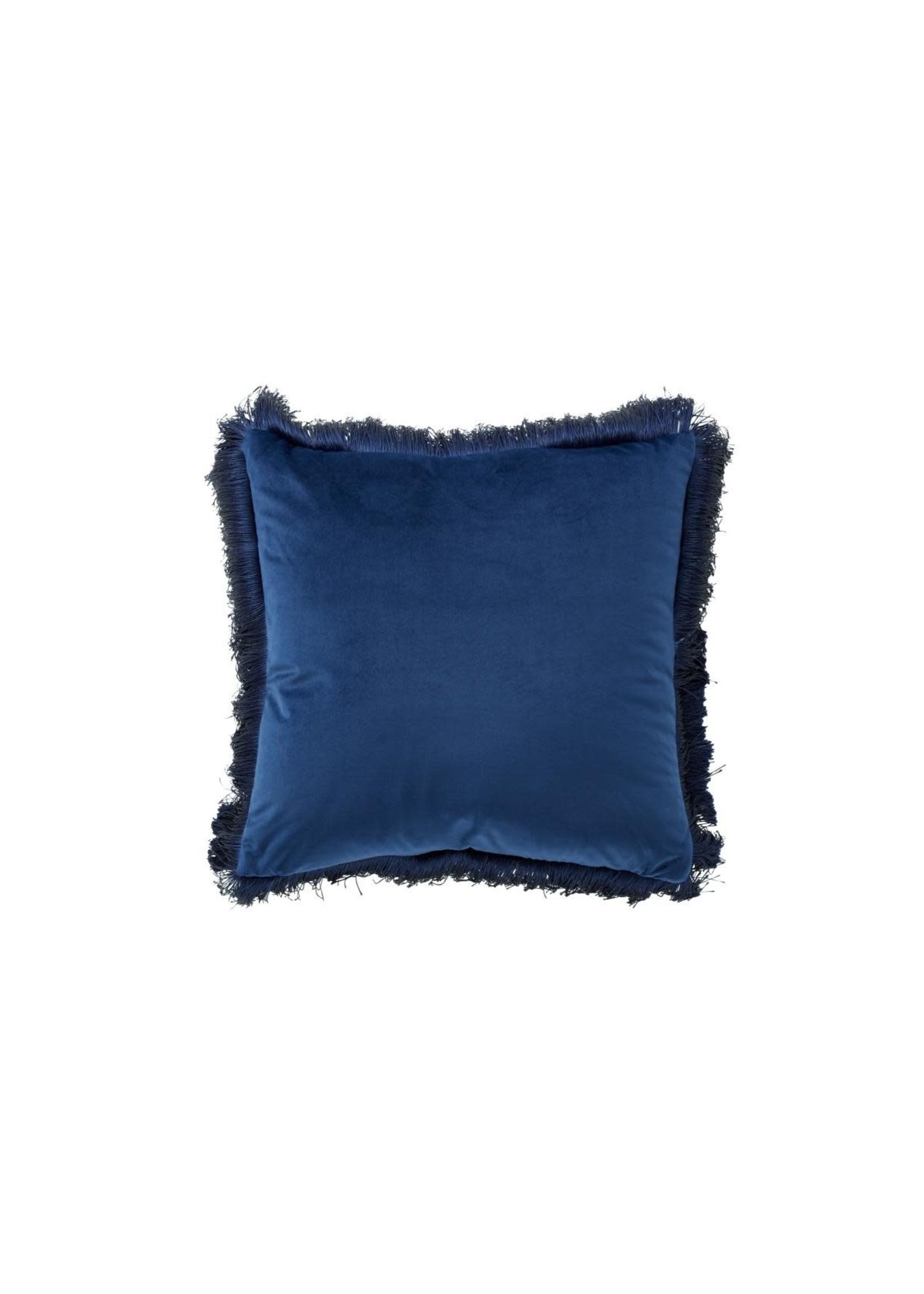"""UMA Enterprises Cotton Fringe Pillow 20"""" Blue"""