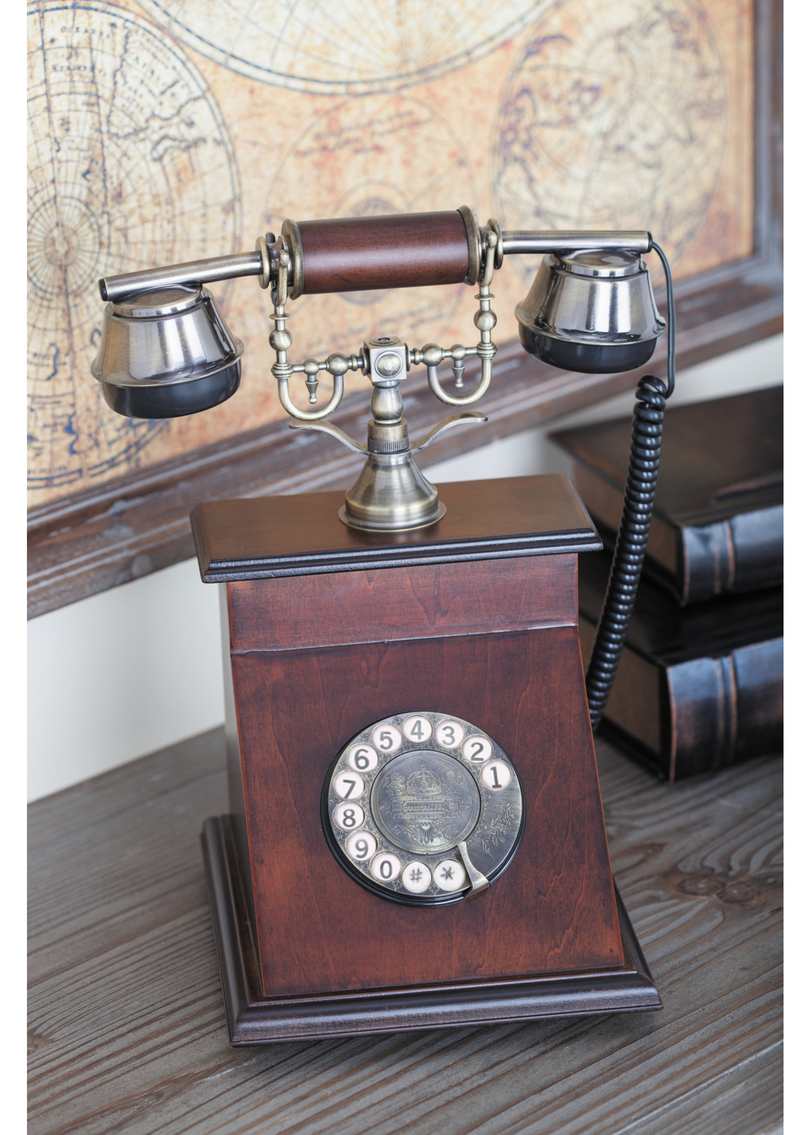 UMA Enterprises Wood Vintage Telephone