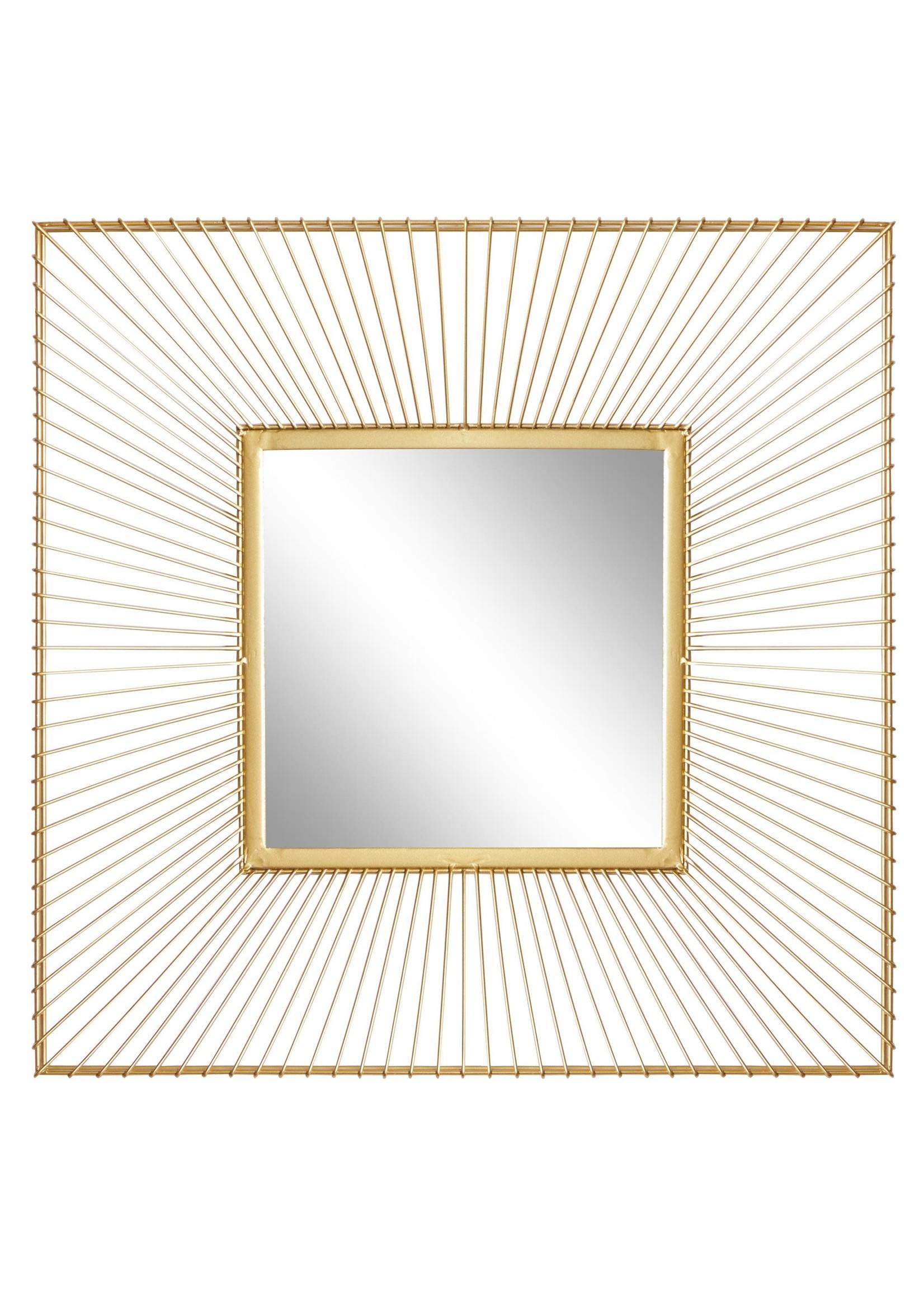 UMA Enterprises Metal Square Wall Mirror Gold