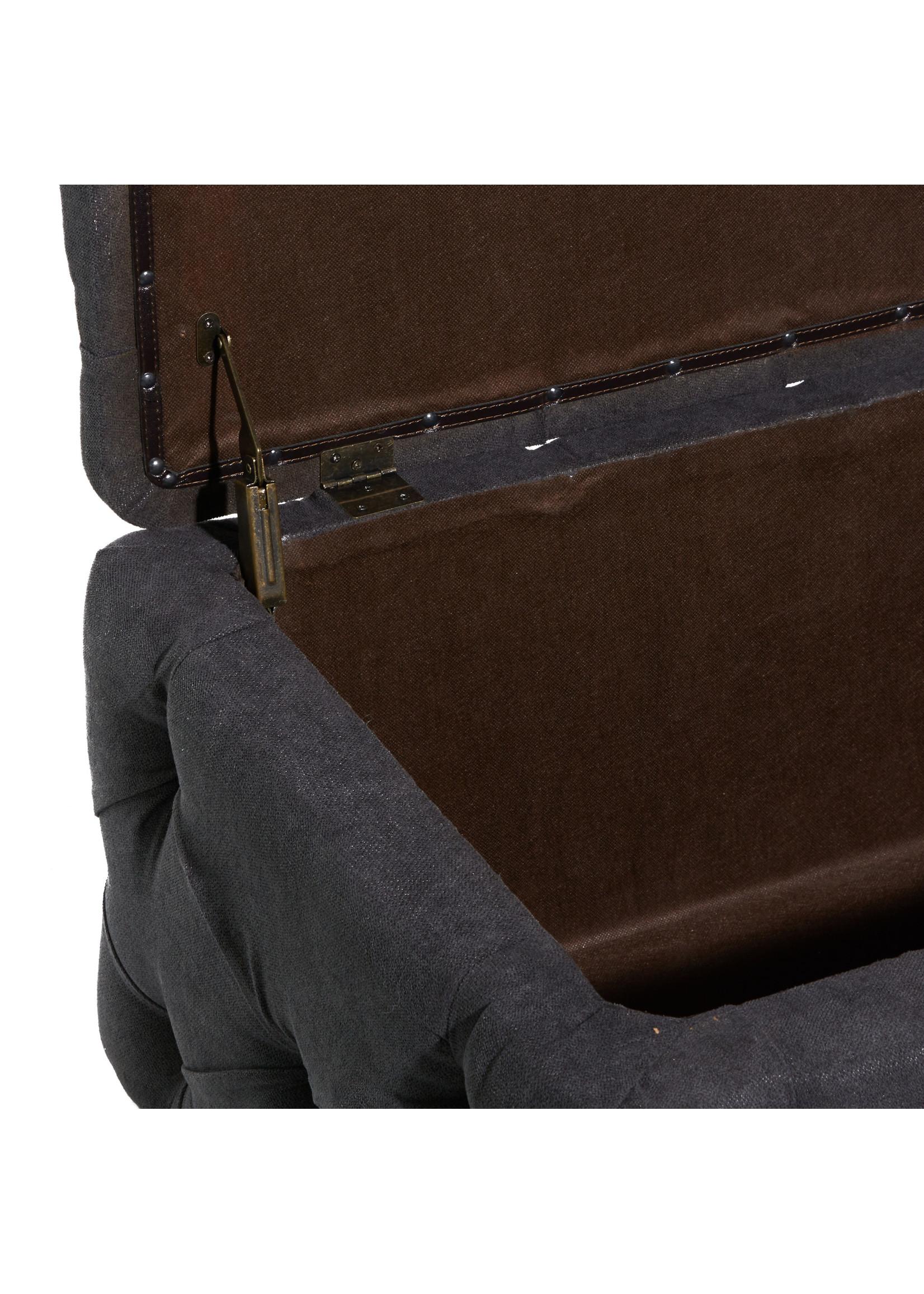 UMA Enterprises Velvet Storage Bench
