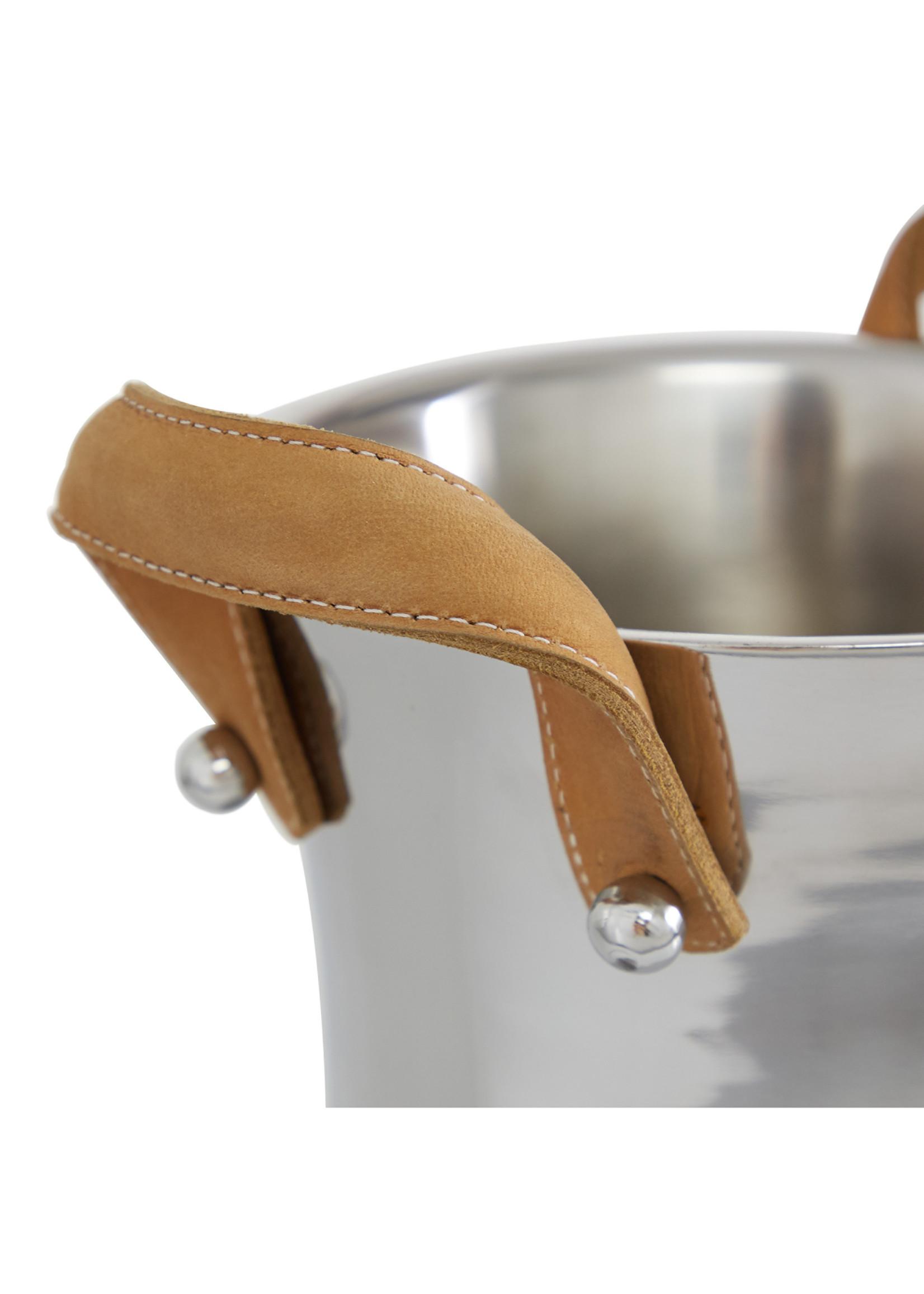 UMA Enterprises Brown Leather Handle Wine Bucket