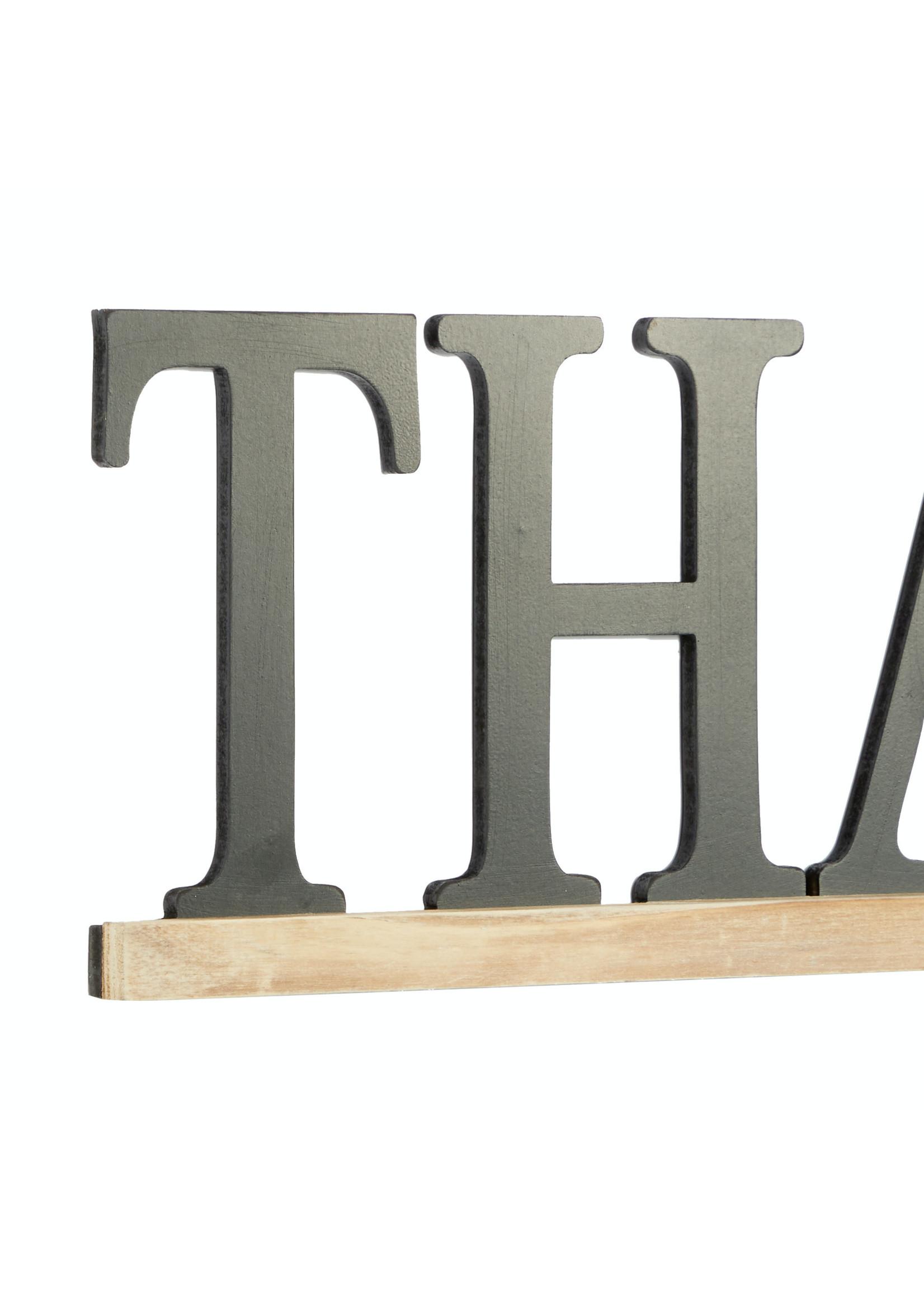 UMA Enterprises UMA Wood Wall Decor Thankful