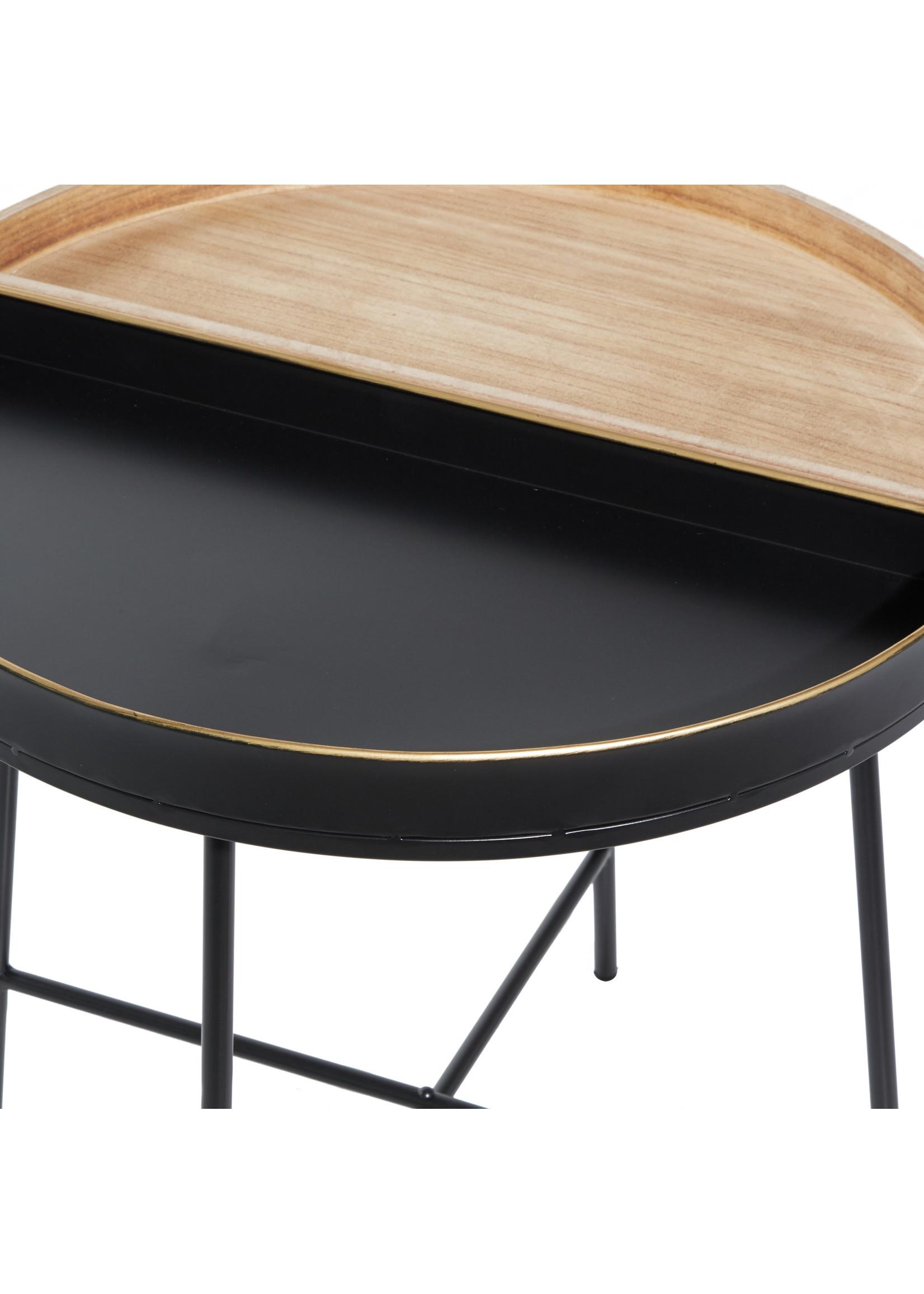 UMA Enterprises Metal Wood Side Table