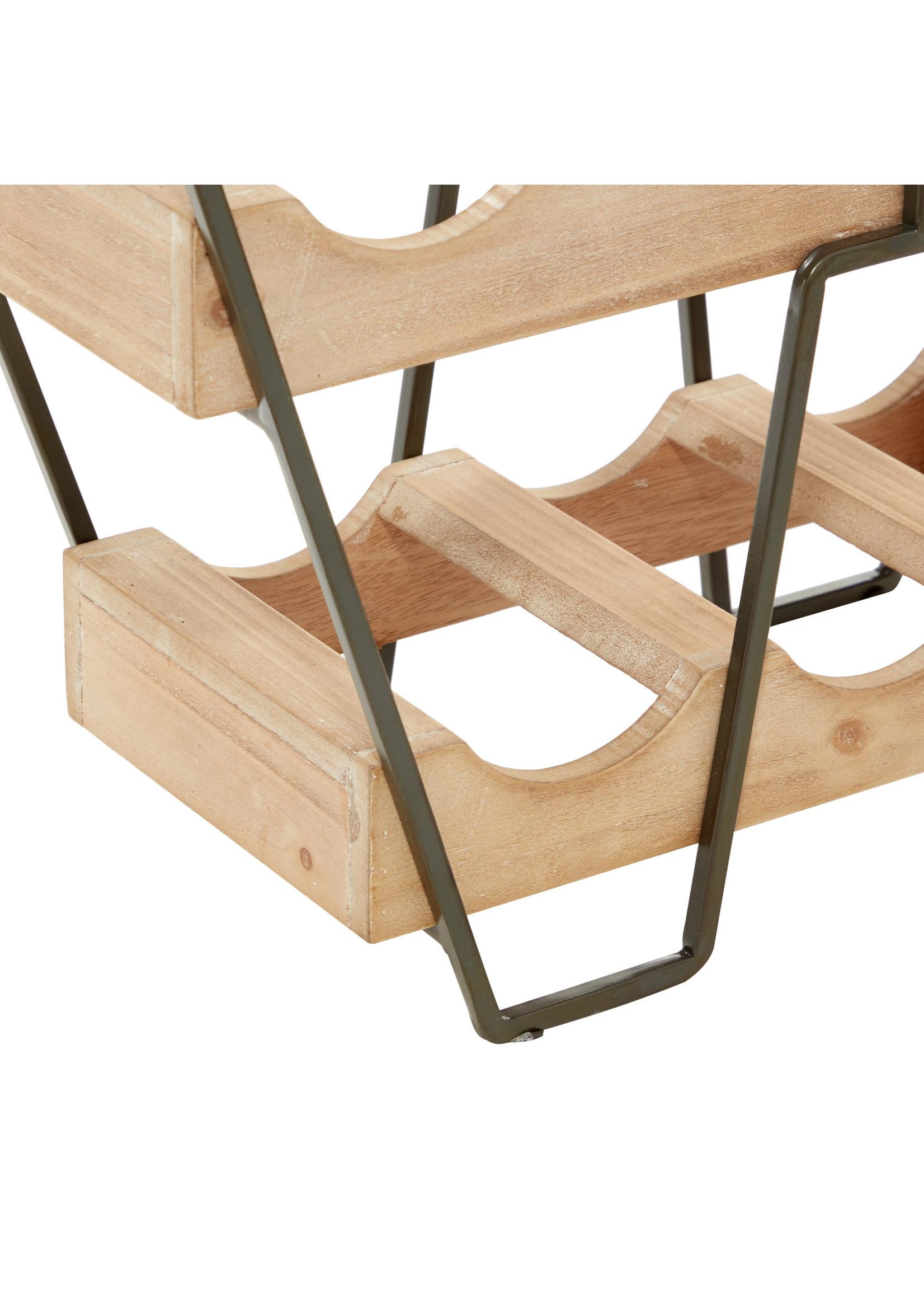 UMA Enterprises Metal Wood Wine Rack