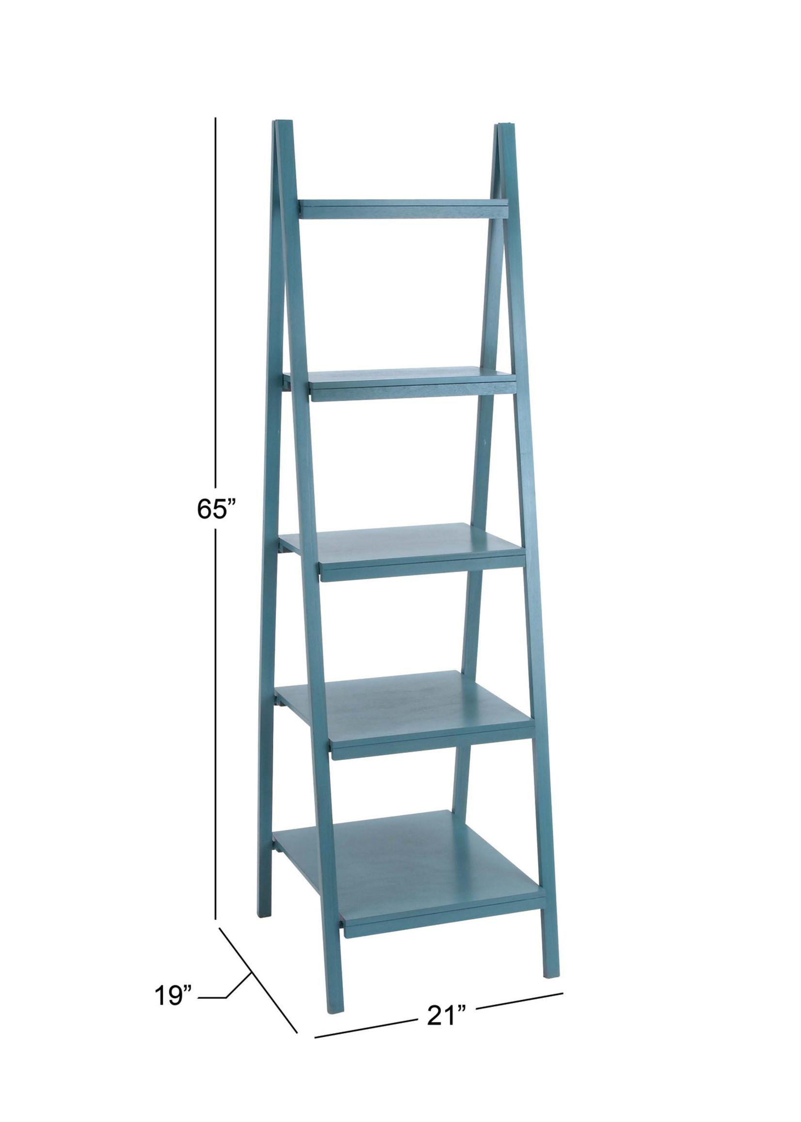 UMA Enterprises Wood Leaning Shelf Blue