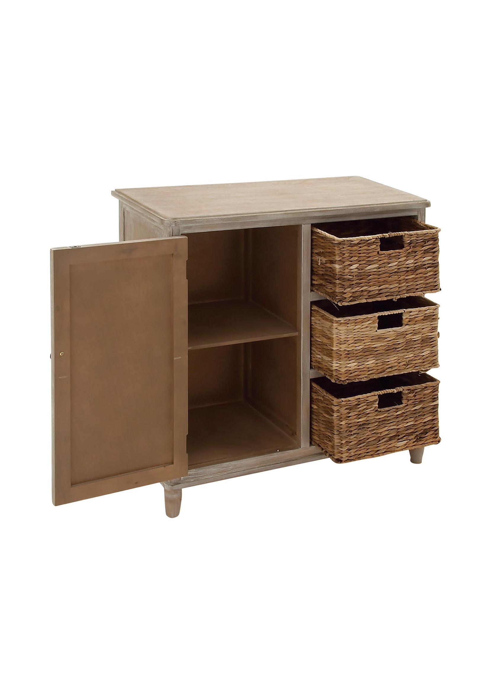UMA Enterprises Wood Basket Cabinet