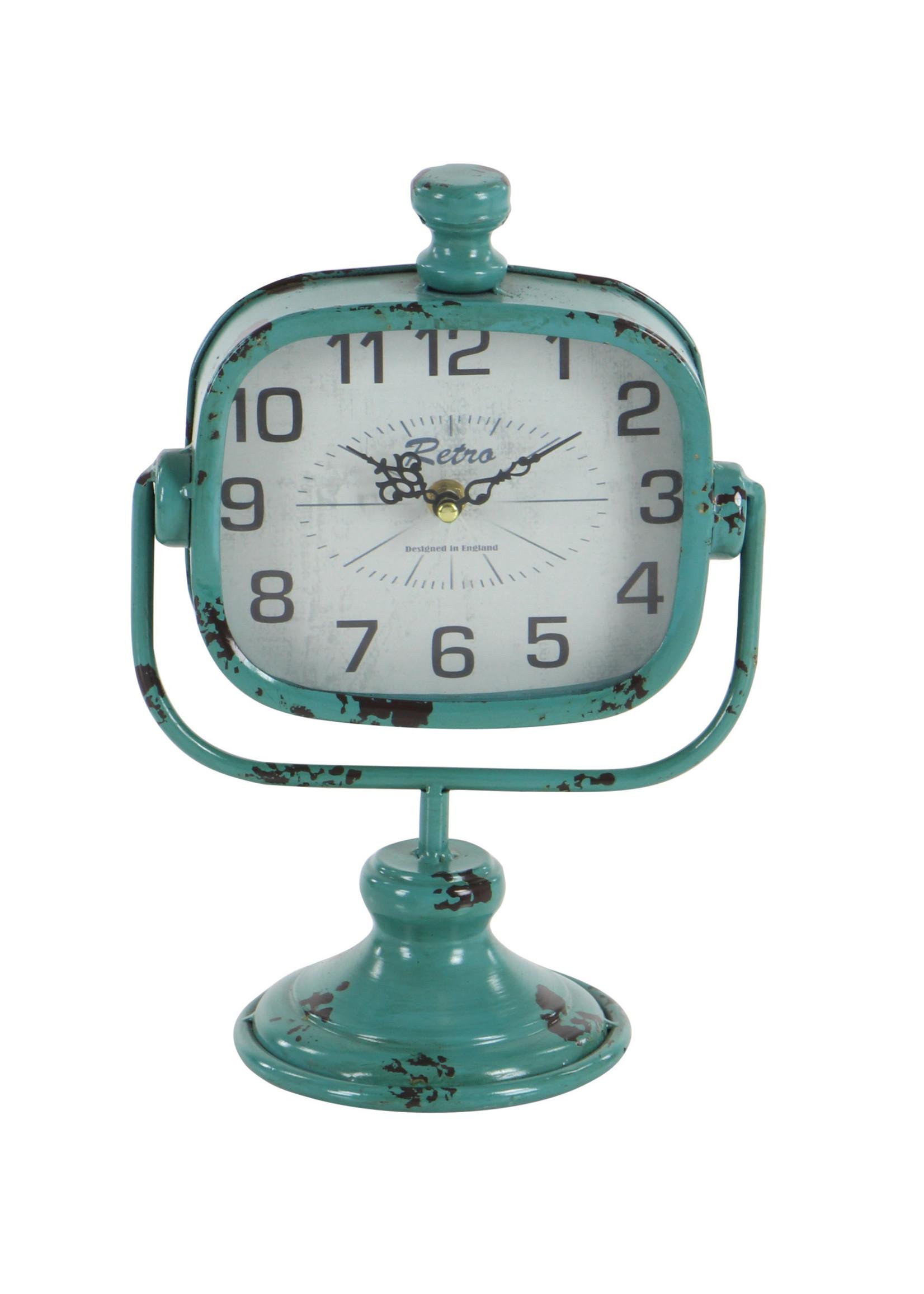 UMA Enterprises Metal Clock - Blue