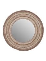 UMA Enterprises Wood Round Wall Mirror