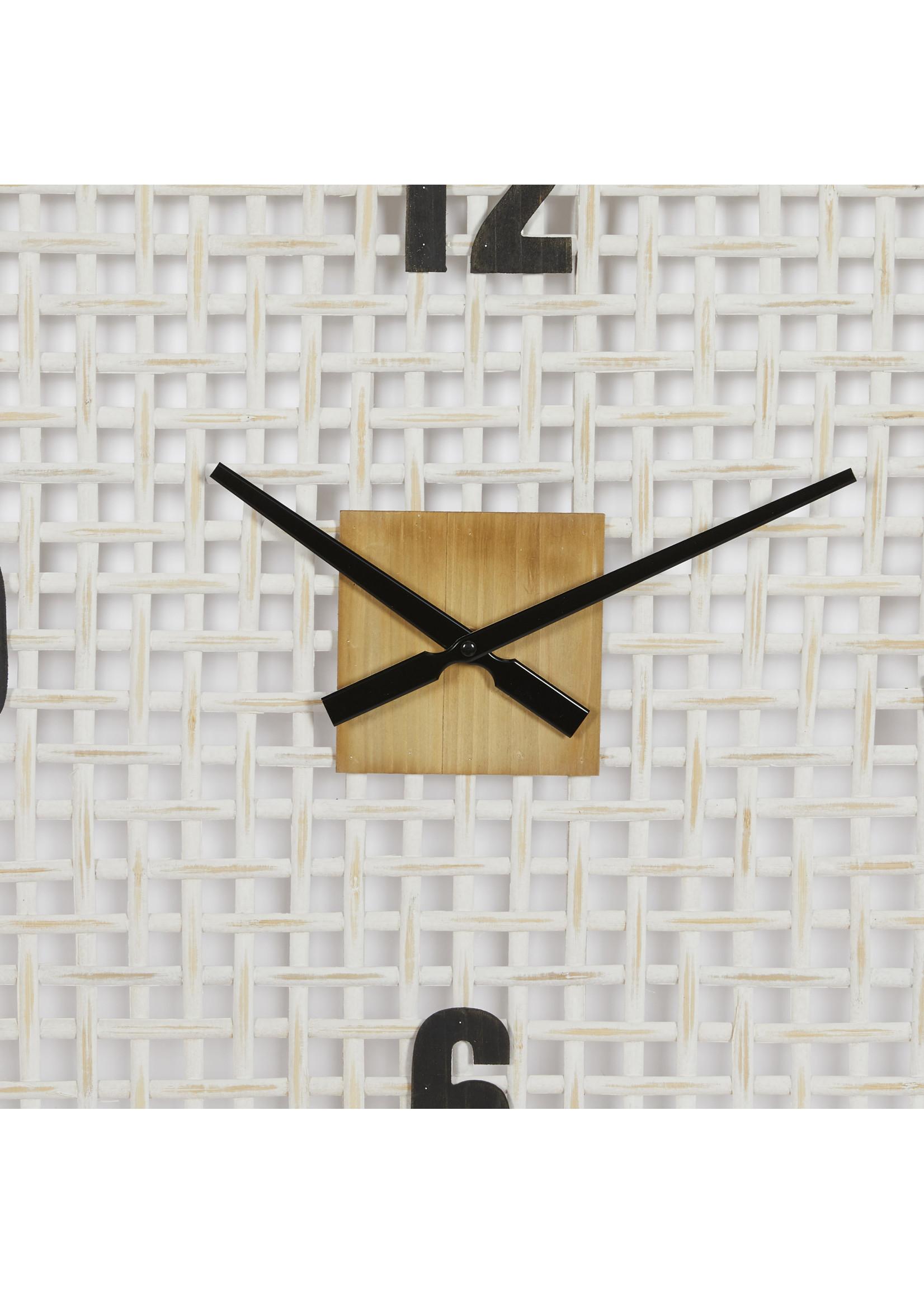 UMA Enterprises Wood Glass Wall Clock - Square