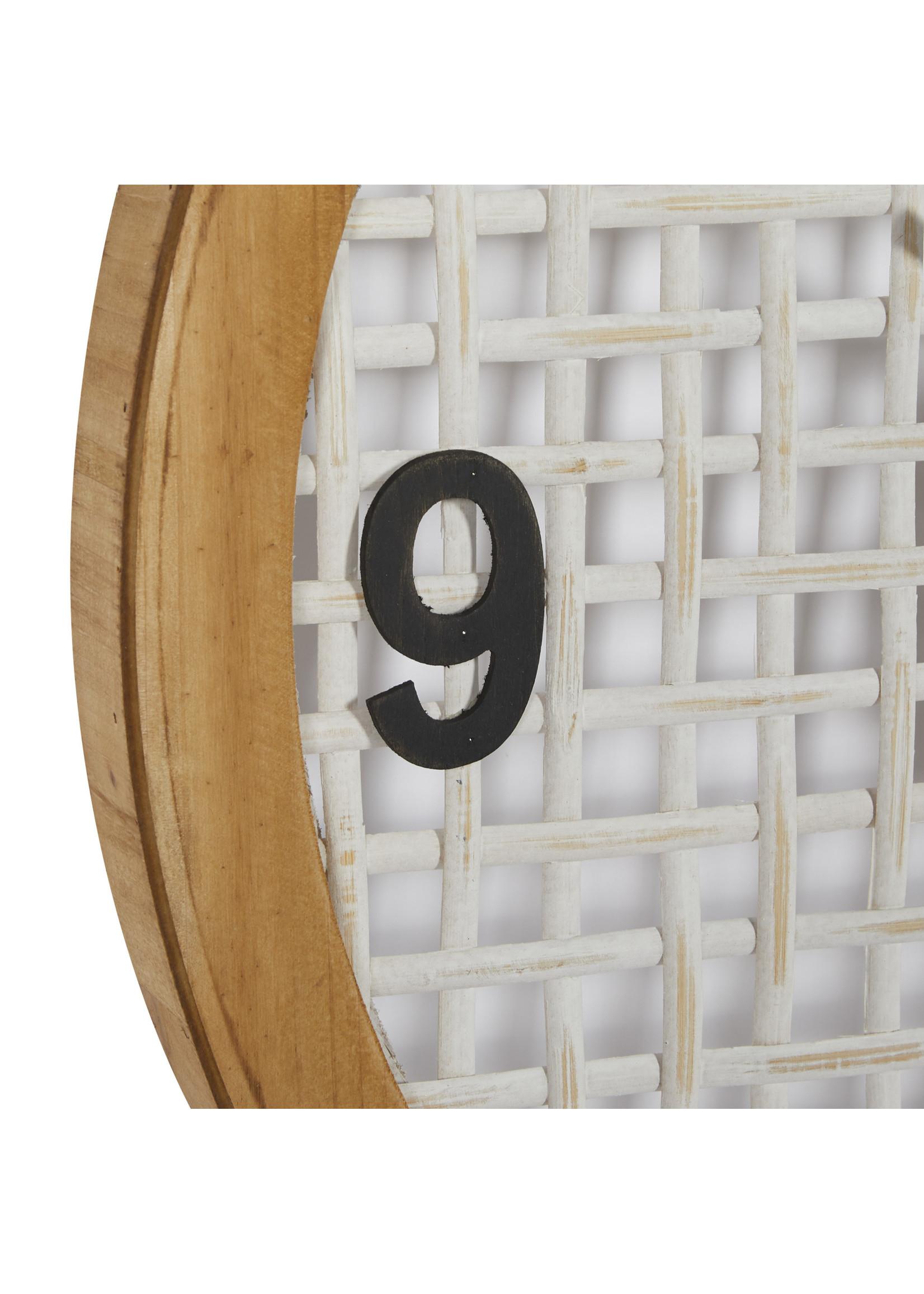 UMA Enterprises Wood Glass Wall Clock