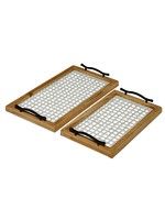 UMA Enterprises Wood Glass Tray - Large