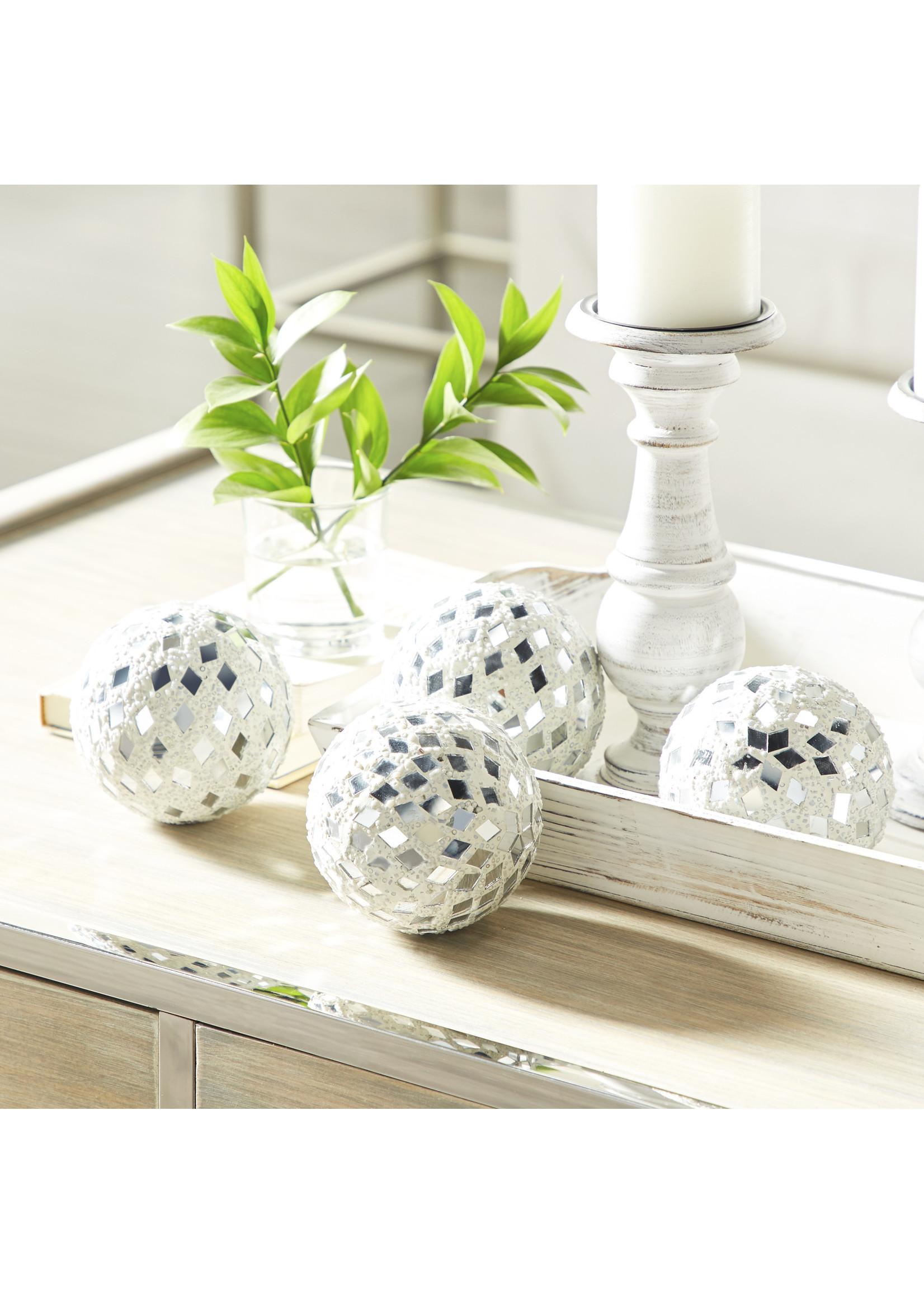UMA Enterprises Mirror Mosaic Balls Set of 4