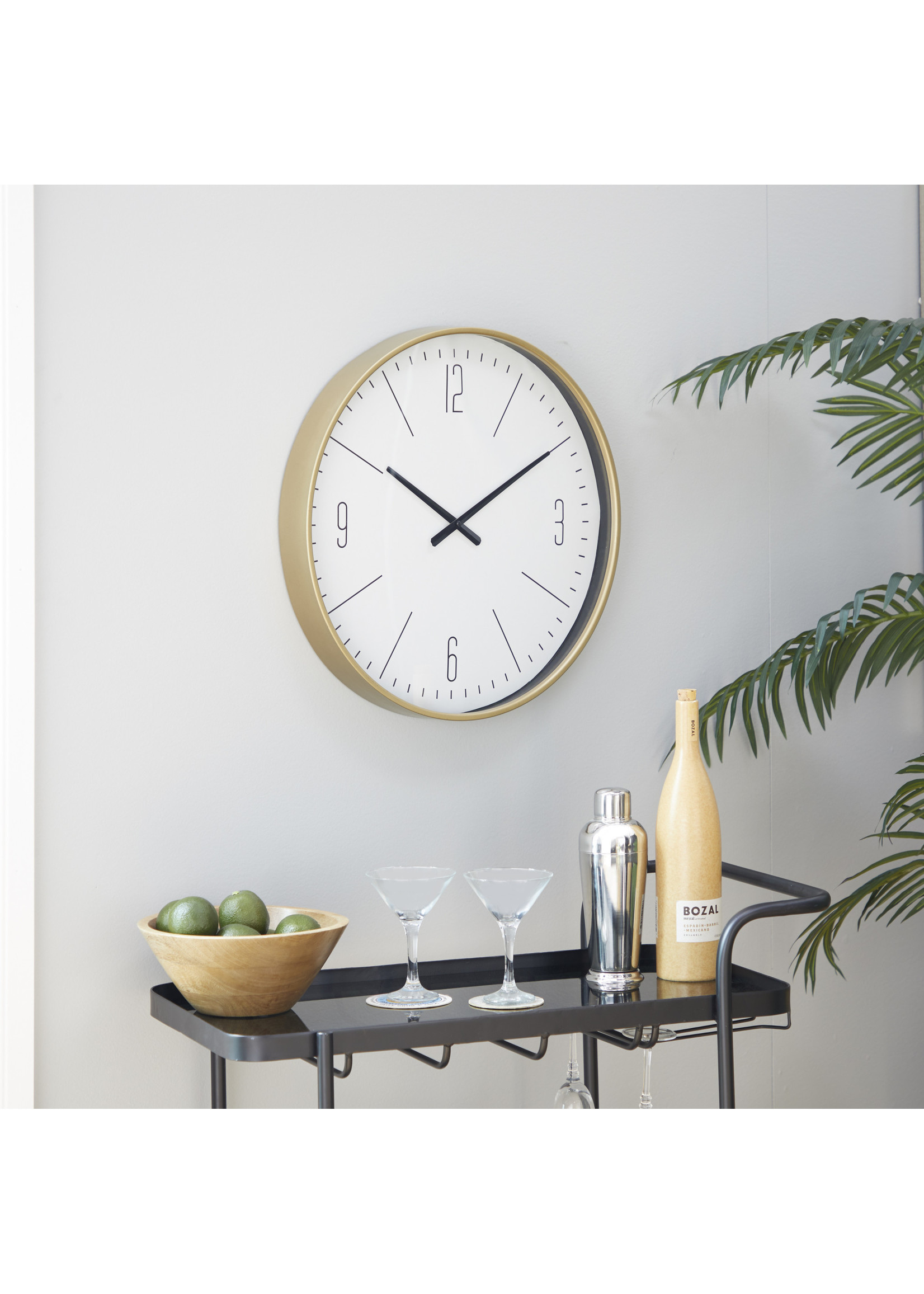 UMA Enterprises Metal Wall Clock - Gold