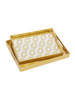 UMA Enterprises Gold Mirror Tray - Large